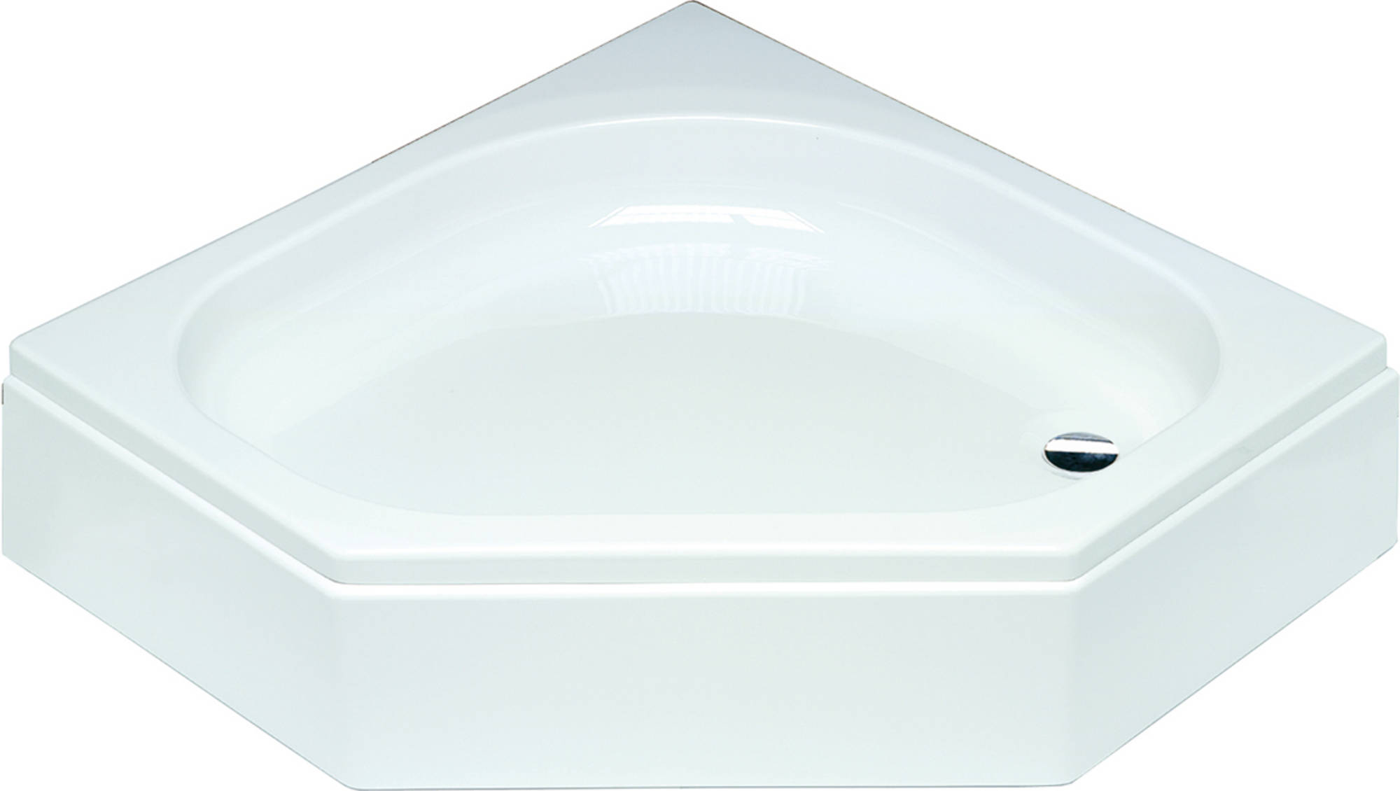 Sealskin Comfort douchebak vijfhoek 90x90 cm opbouw wit