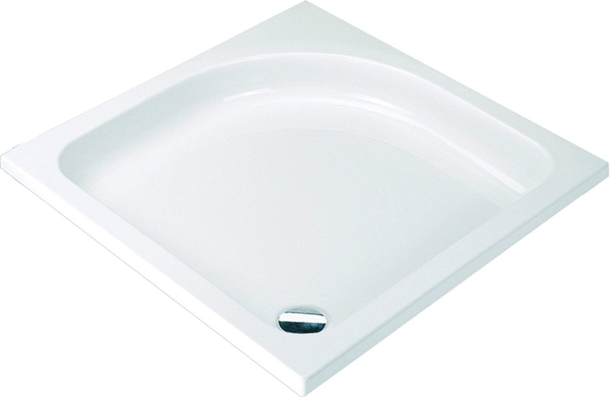 Sealskin Comfort douchebak vierkant 90x90 inbouw wit