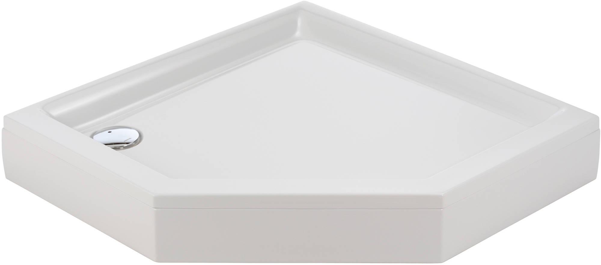 Sealskin Senso douchebak 5-hoek 90x90cm met voorpaneel, wit