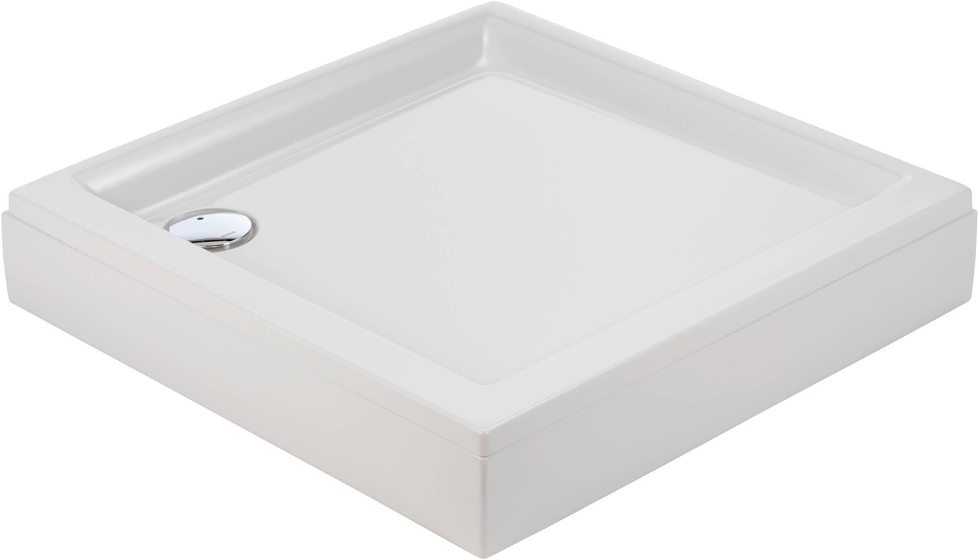 Sealskin Senso douchebak vierkant 90x90cm met voorpaneel, wit