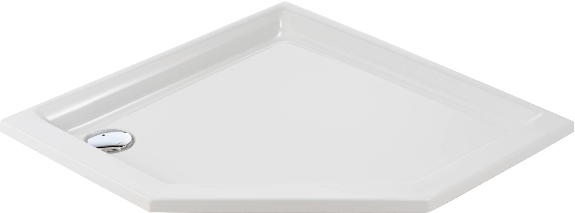Sealskin Senso douchebak 5-hoek 90x90cm inbouw, wit