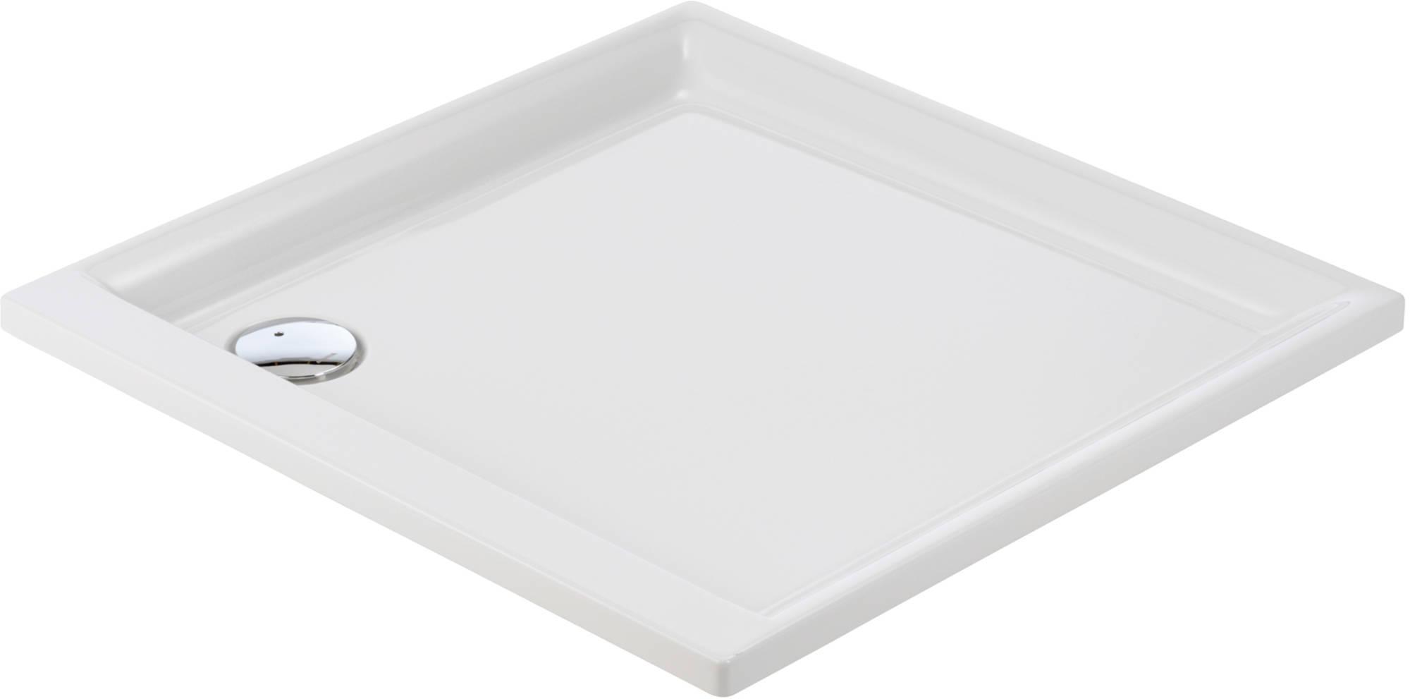 Sealskin Senso douchebak vierkant 90x90cm inbouw voor nis, wit