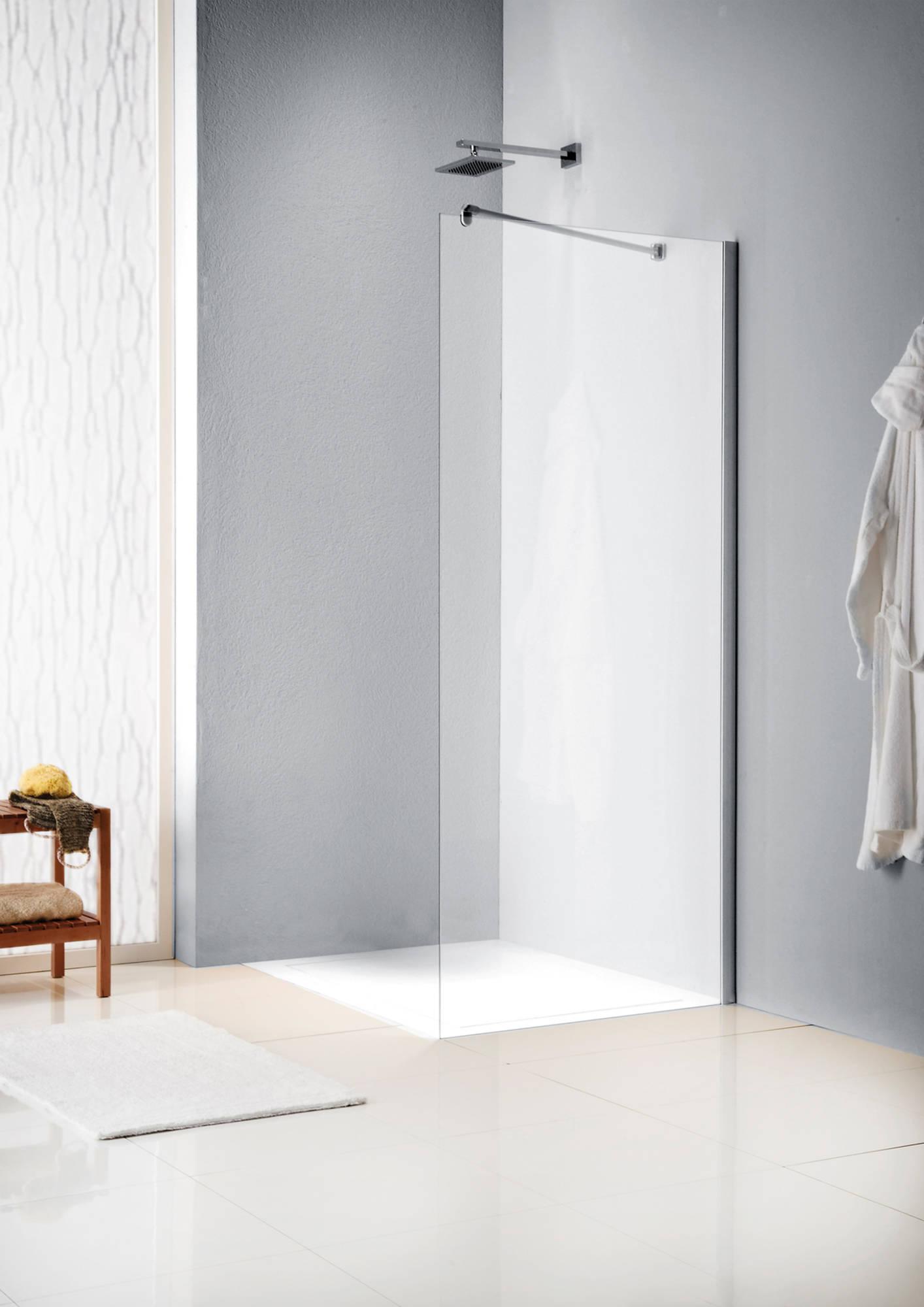 Sealskin Get Wet W205 inloopdouche 90x200cm mat zilver profiel en helder glas