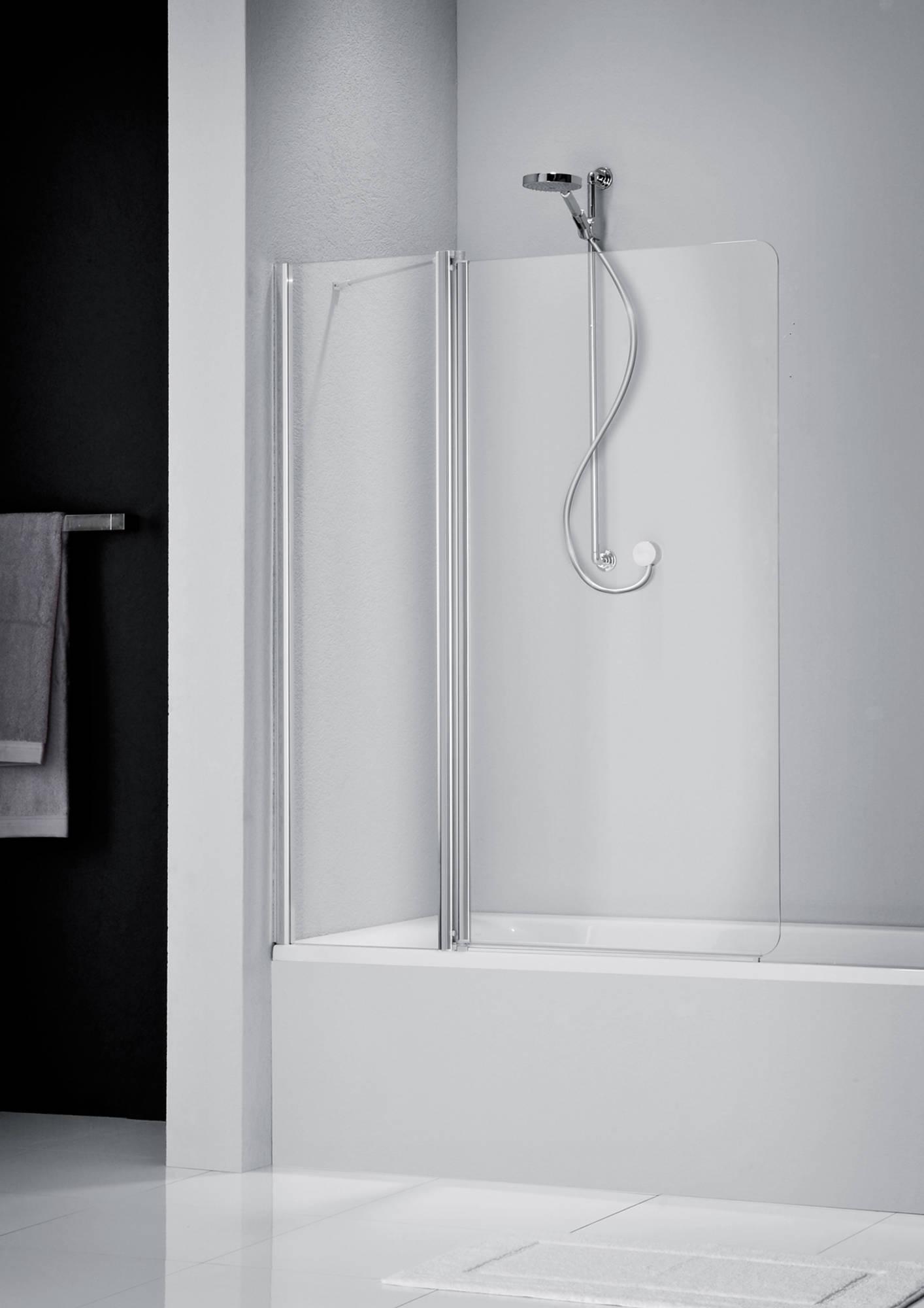 Sealskin GET WET S205 badwand 120x150 cm mat zilver helder glas
