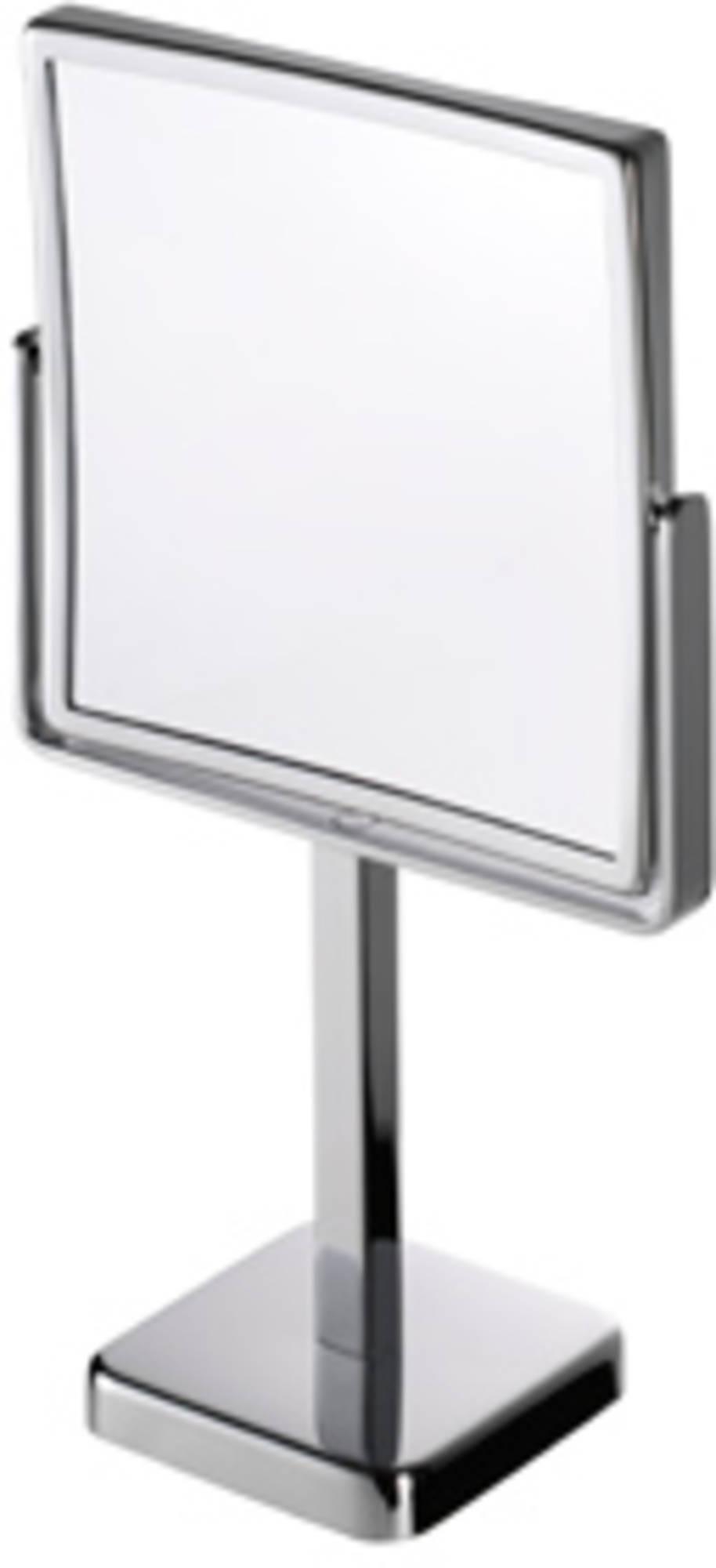 Geesa Serie 1000 scheespiegel vierkant 21.5x21.5cm,staand 3x vergro, chroom