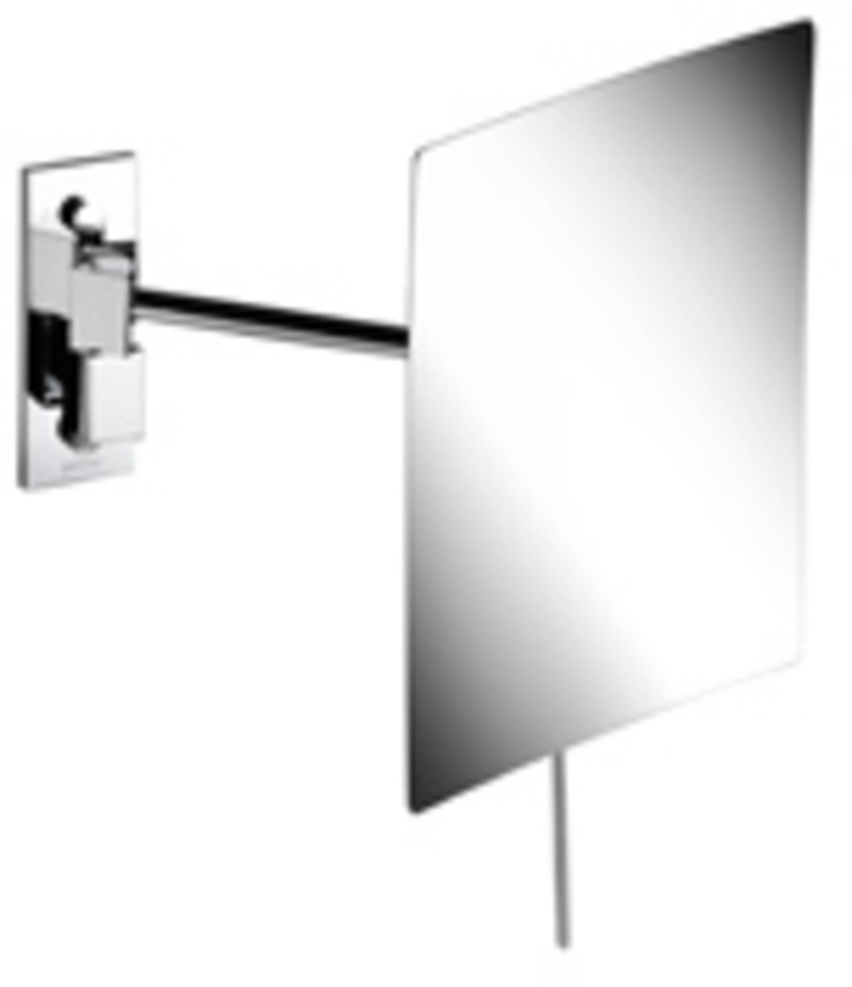 Geesa Serie 1000 scheerspiegel 1-arm rond 15x22.5cm, 3x vergrotend, chroom