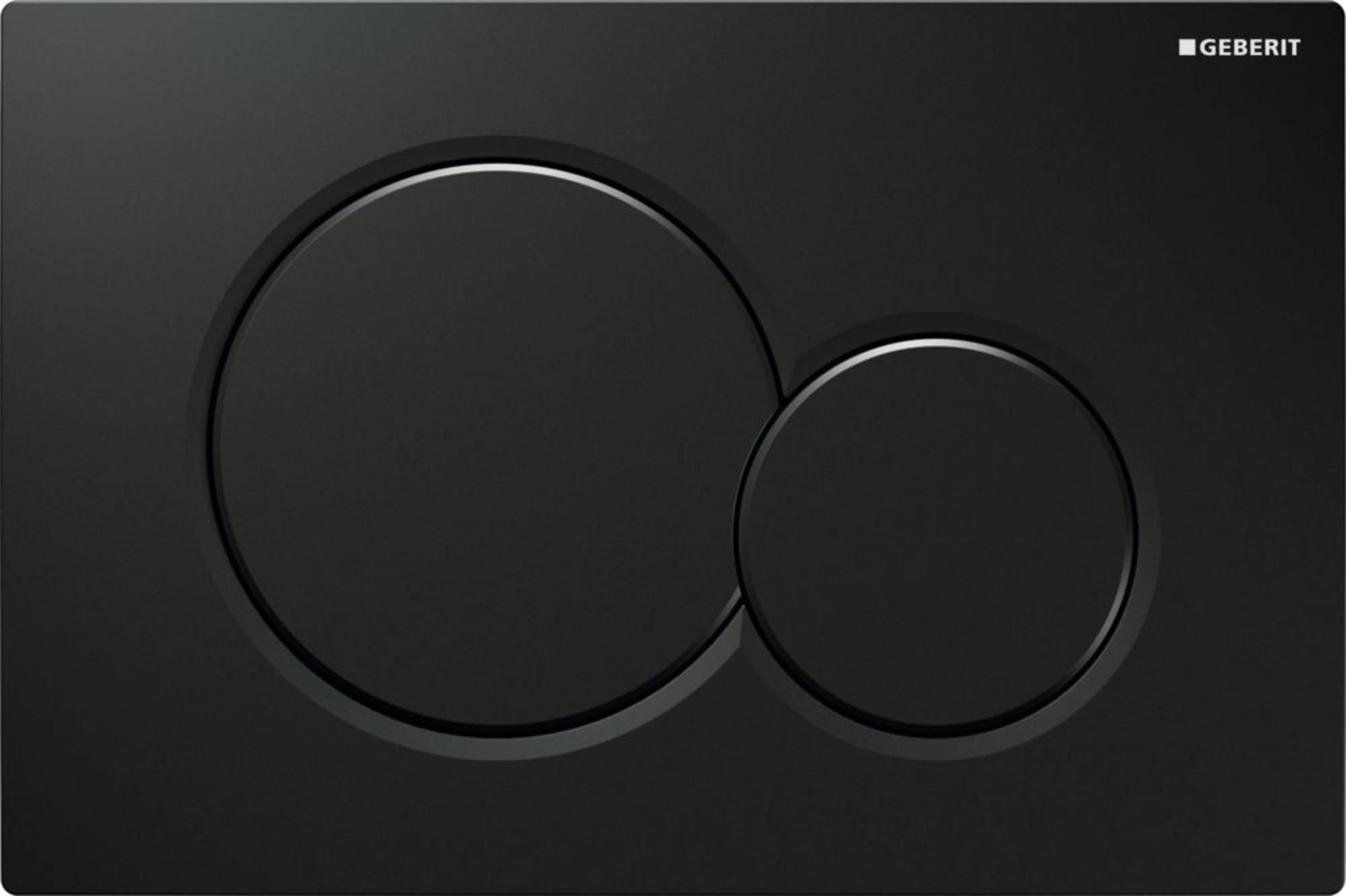 Geberit Sigma01 bedieningsplaat tweeknops frontbediening, zwart