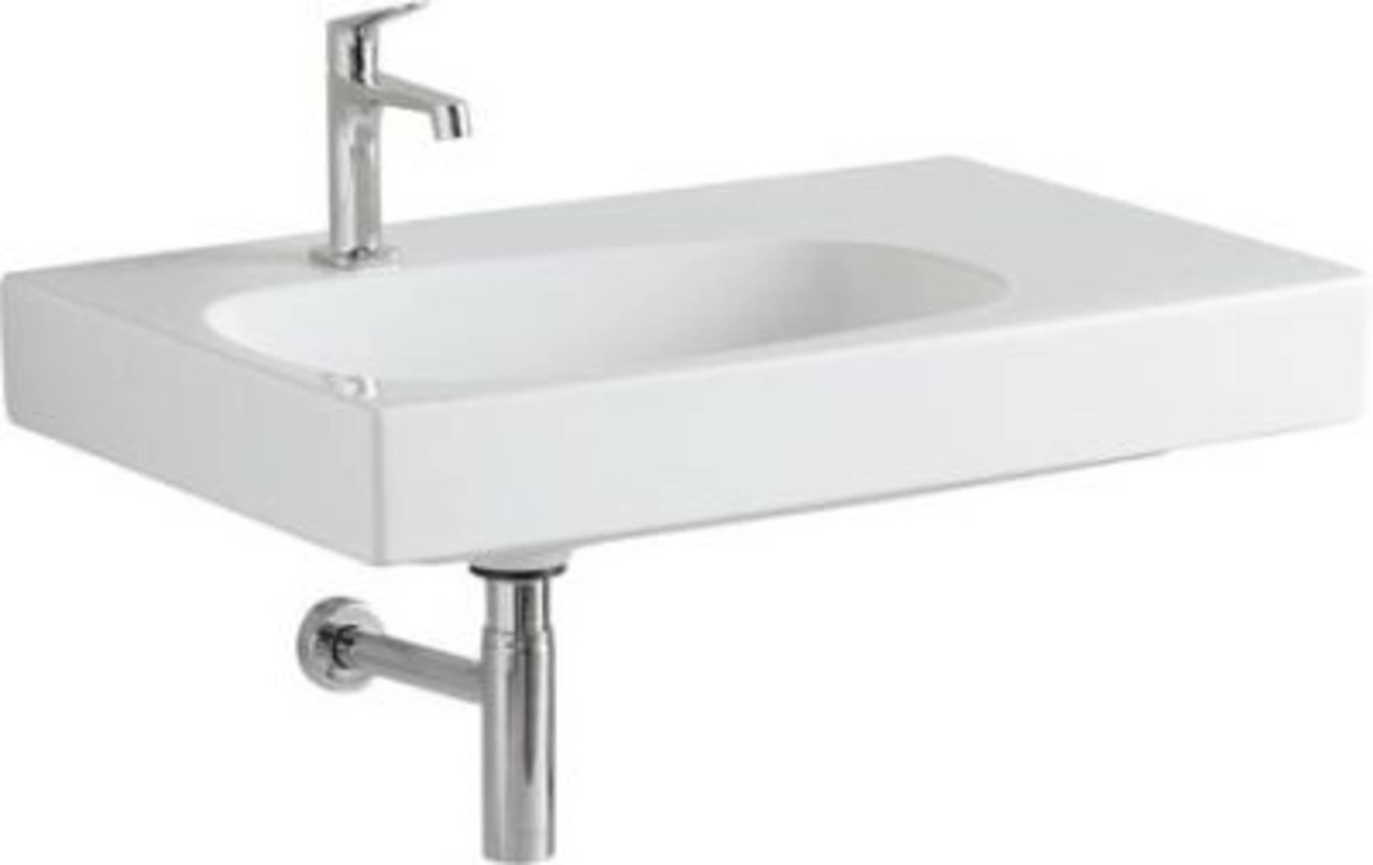 Keramag Citterio meubelwastafel 75x50 m/krgtafleg rechts keratect Wit
