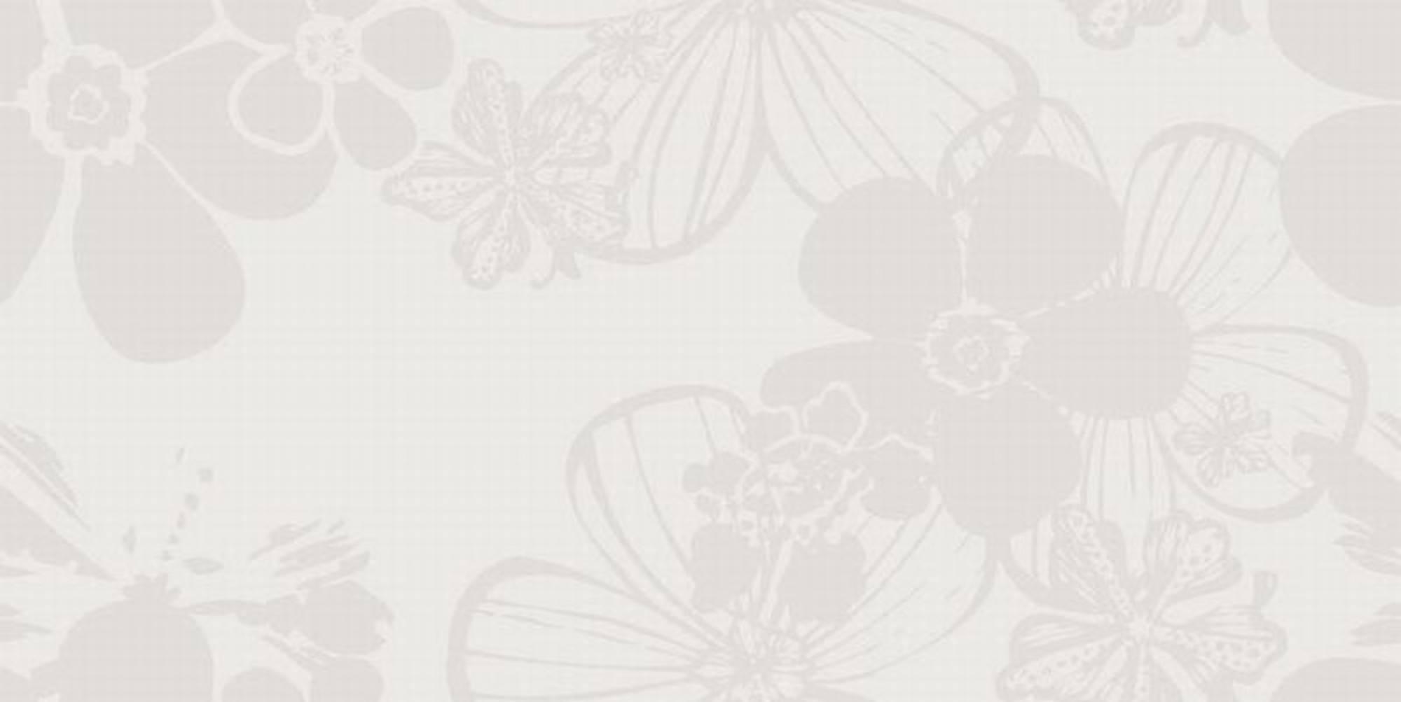 VILLEROY & BOCH MELROSE tegel 30x60 cm. decor flower WIT (1581NW15)