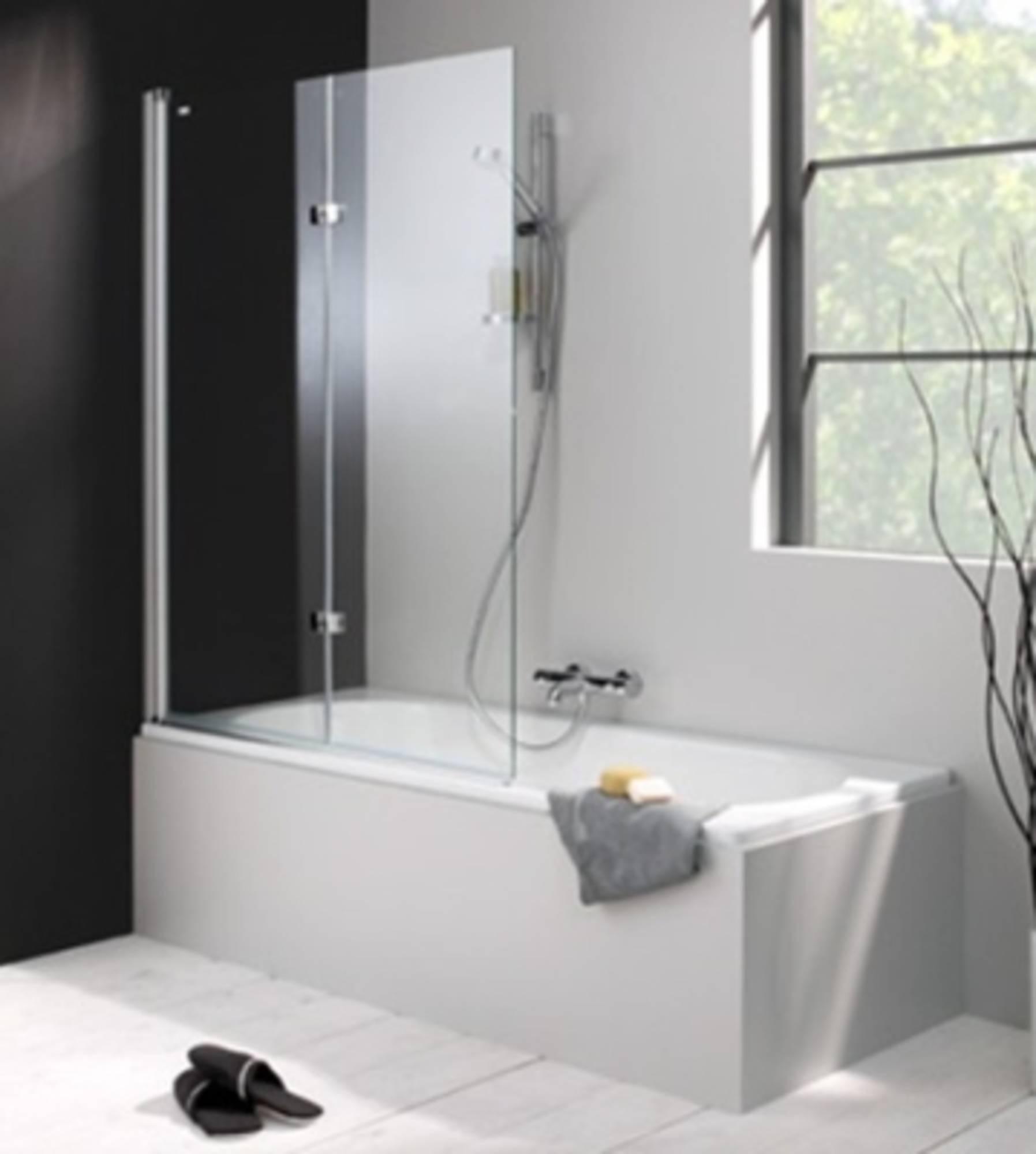 Huppe 501 Design badklapwand deur links 100x150 cm Matzilver-Helder Glas