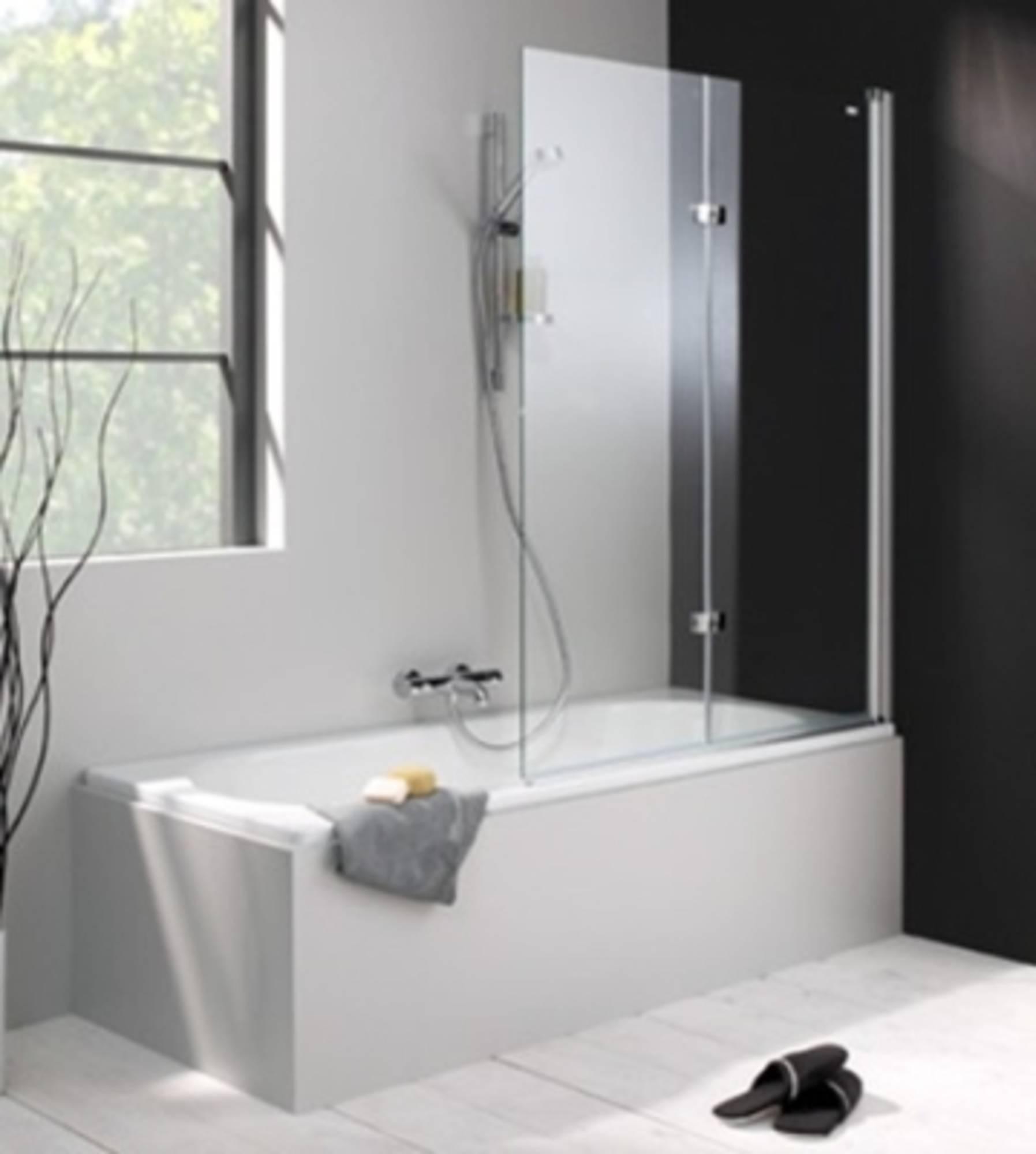 Huppe 501 Design badklapwand deur rechts 100x150 cm Matzilver-Helder Glas