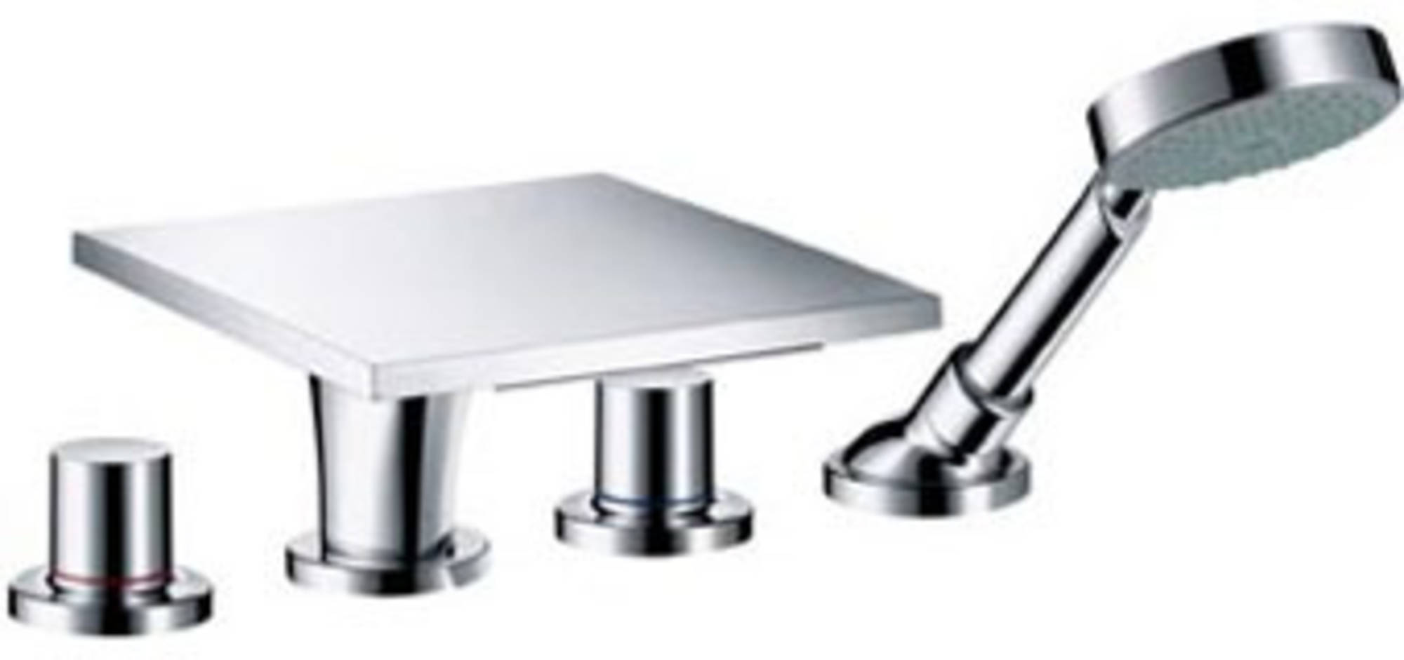 Axor Massaud afbouwdeel badrand inbouw 4-gats tegelrandmengkr. chroom 18440000