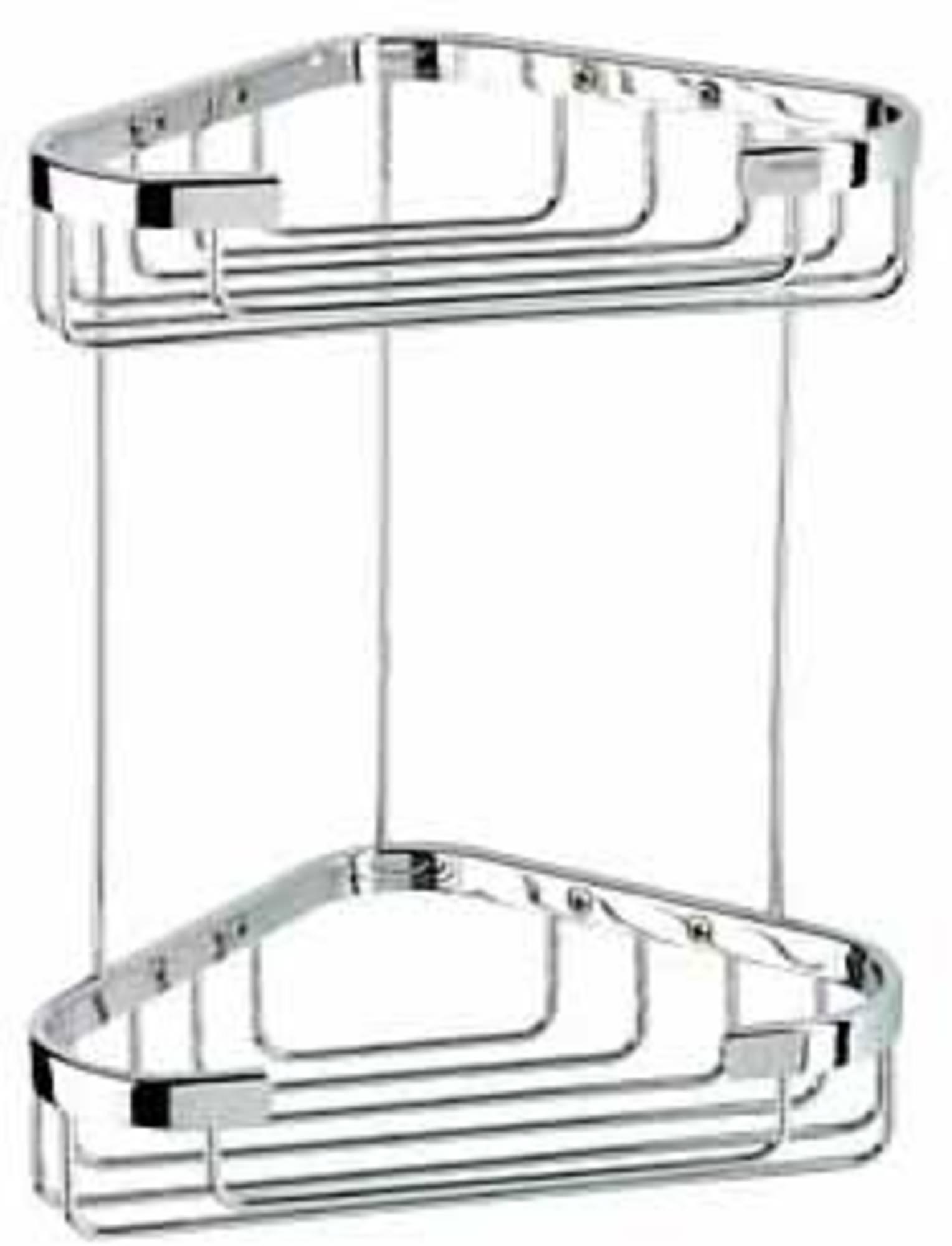 Geesa Basket dubbele hoekkorf medium, chroom
