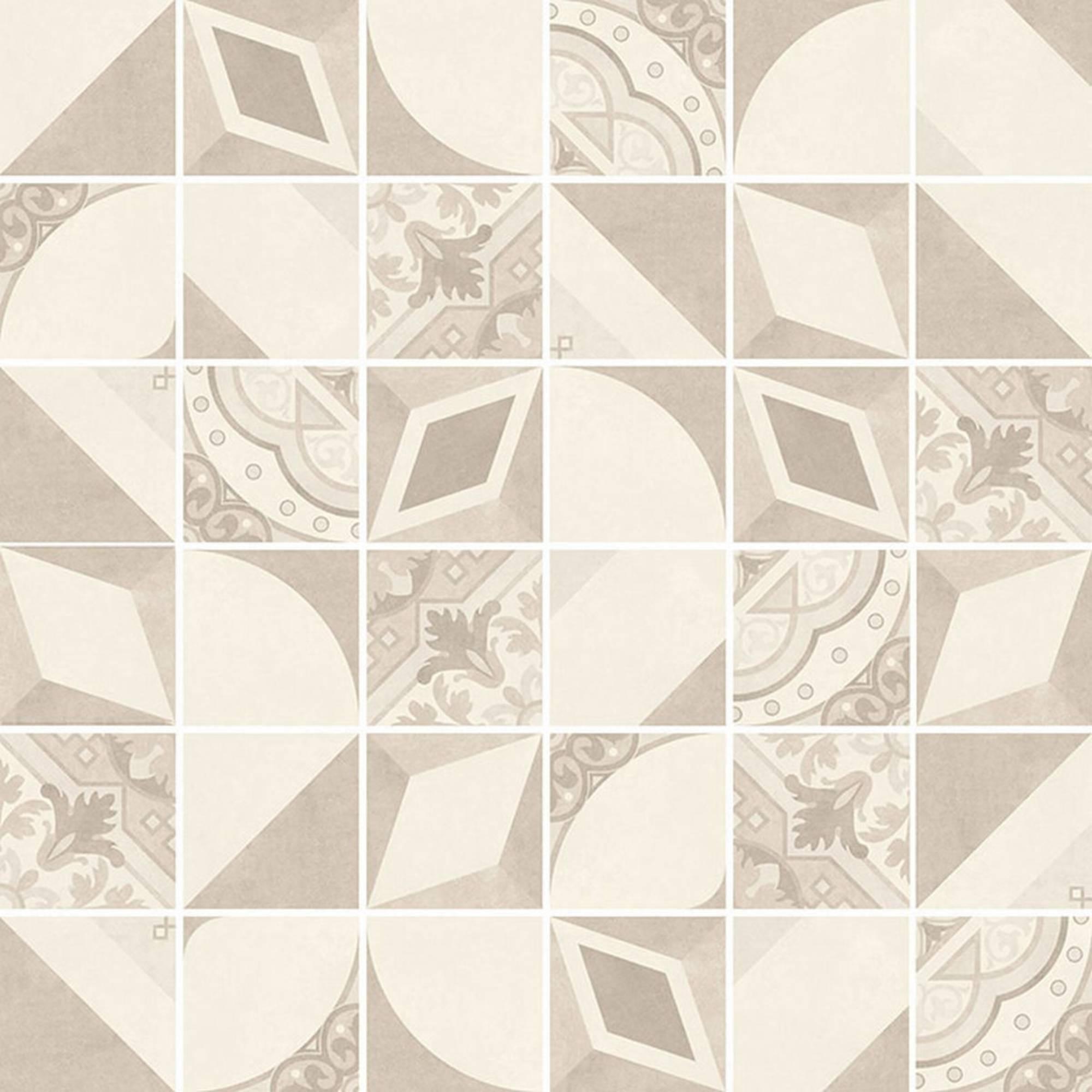 Villeroy & boch Century unlimited tegelmat 30 x 30 cm. blok 5 x 5 cm. a 11 stuks, creme