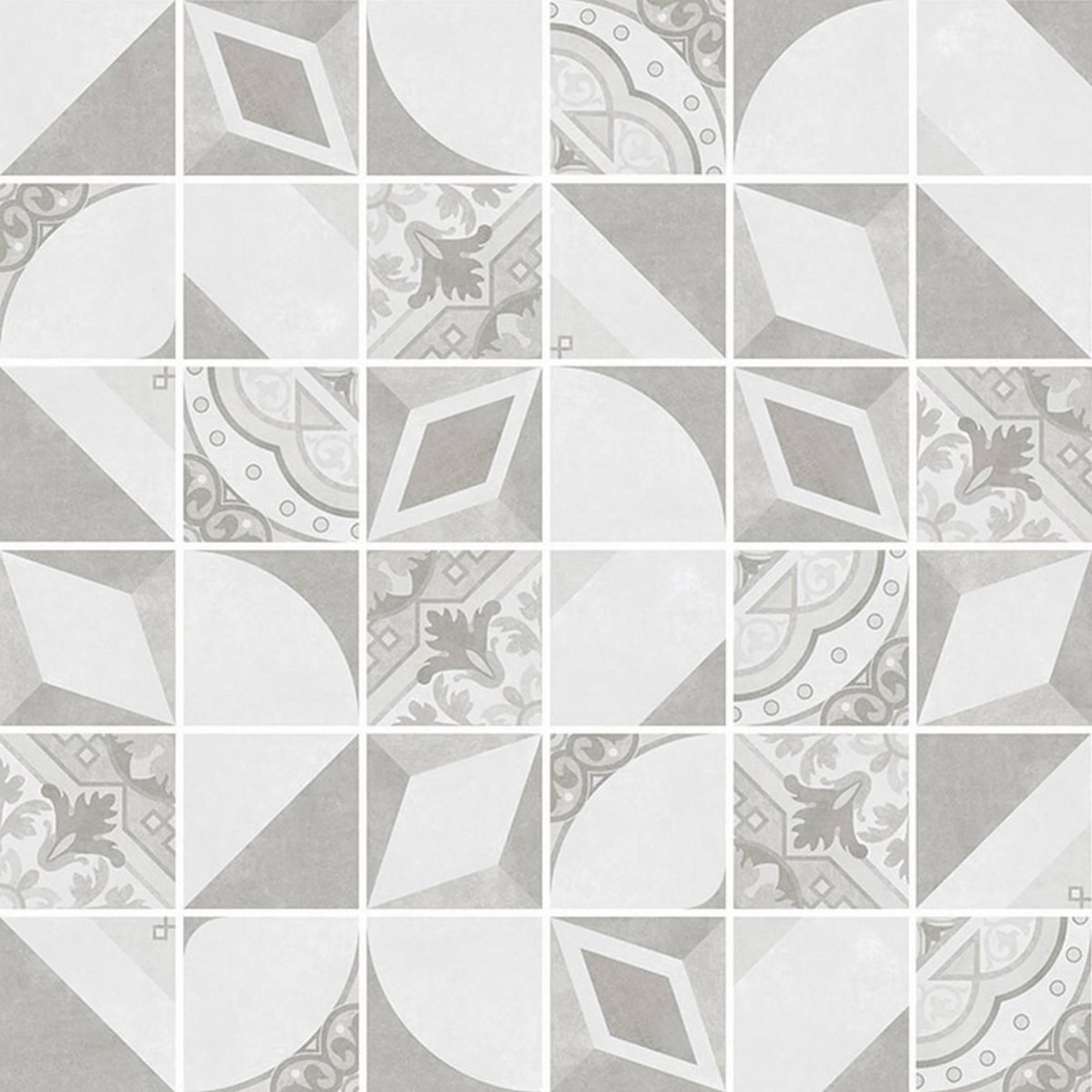 Villeroy & boch Century unlimited tegelmat 30 x 30 cm. blok 5 x 5 cm. a 11 stuks, grijs