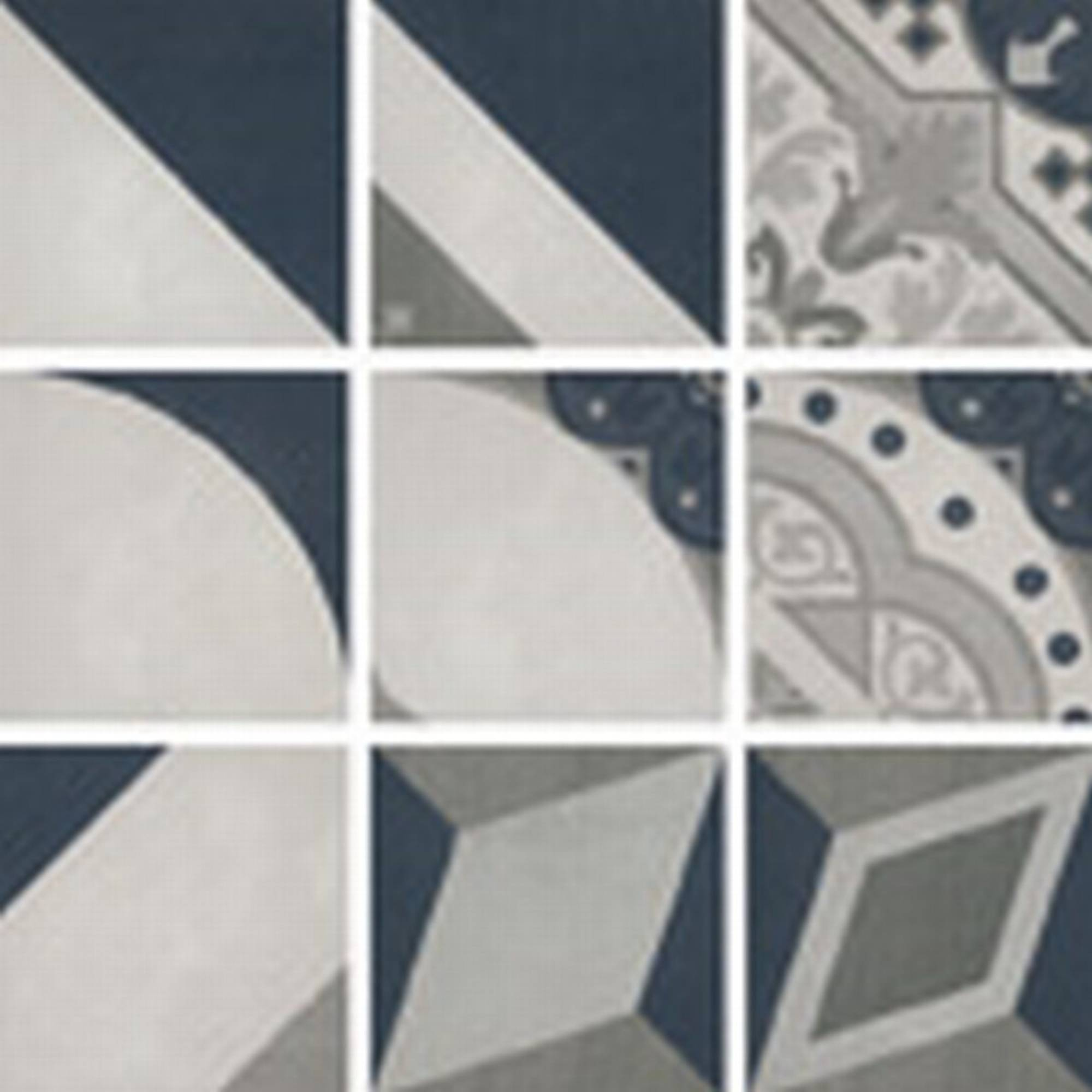 Villeroy & boch Century unlimited decortegel 20 x 20 cm., meerkleurig koud