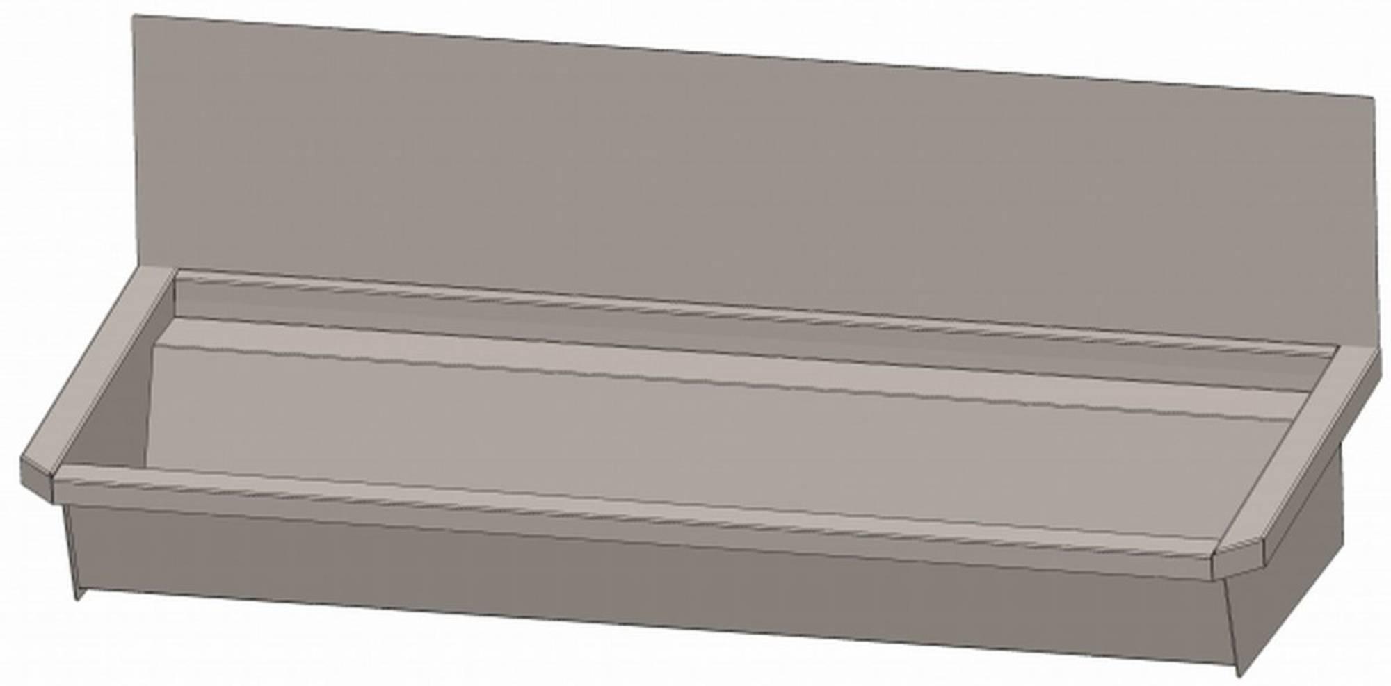 INTERSAN SANILAV wasgoot met spatbord 120 cm.2 pers. zonder leiding INOX 304 (302Z1)