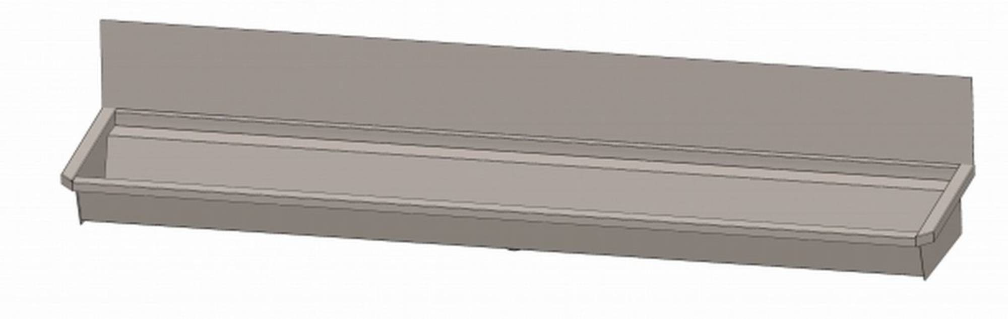Intersan Sanilav wasgoot met spatbord 240cm 4-perszonder leiding Inox 304