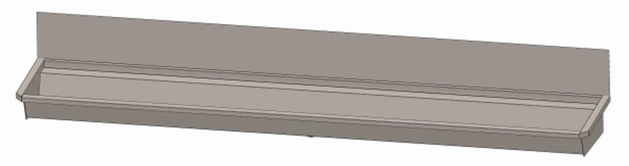 INTERSAN SANILAV wasgoot met spatbord 300 cm.5 pers. zonder leiding INOX 304 (305Z1)