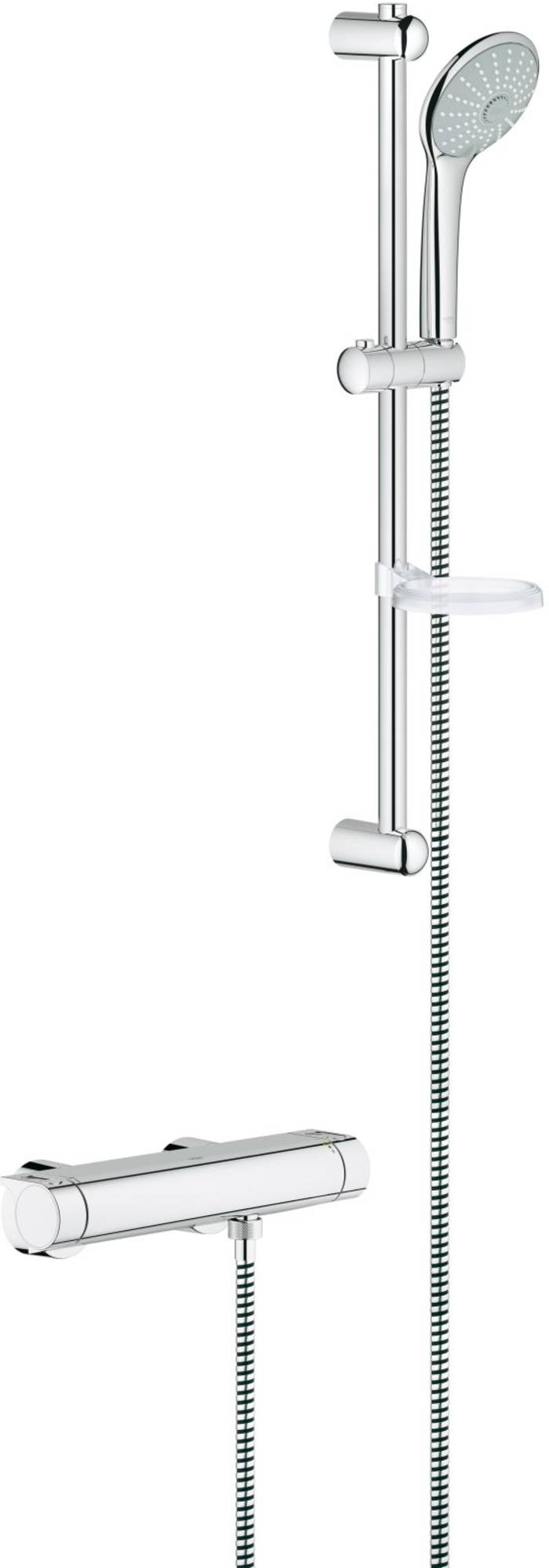 Grohe New grohtherm 2000 douchethermostaat met perfect showerset euphoria chroom 34195001