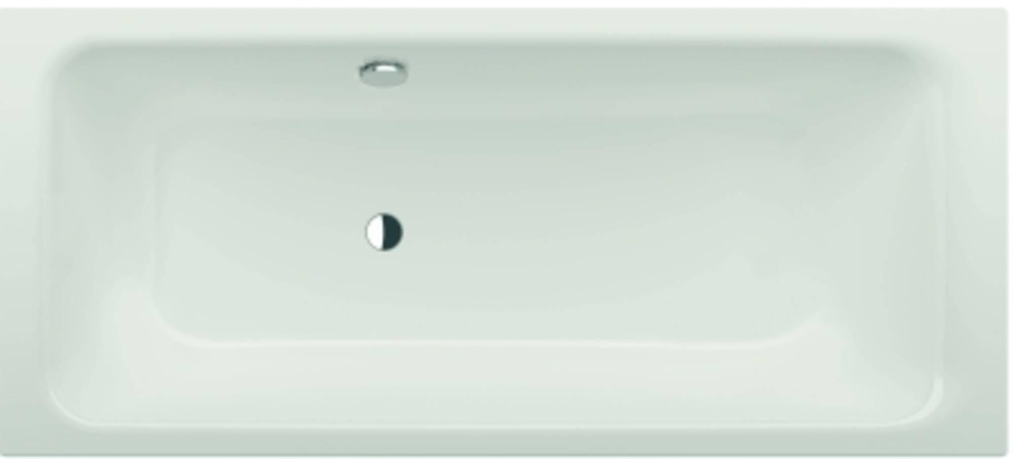 Bette Select bad 180 x 80 cm voeteneind rechts overloop achter Wit