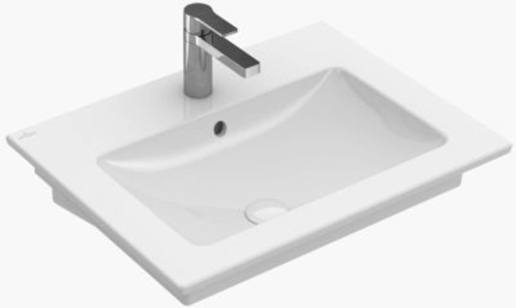 Villeroy&Boch Venticello meubelwastafel 60x50 cm 1x kraangat m/overloop Wit