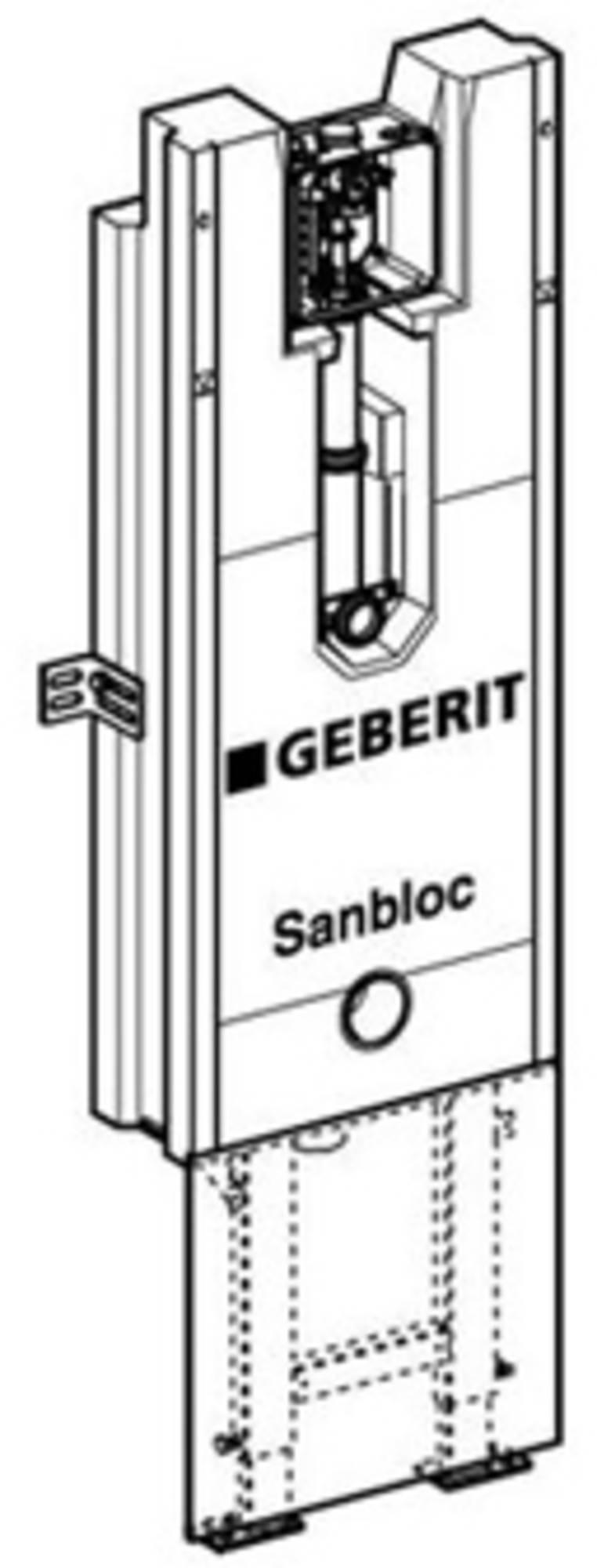 Geberit Sanbloc urinoir element h122 hoh aan-afvoer 345-440