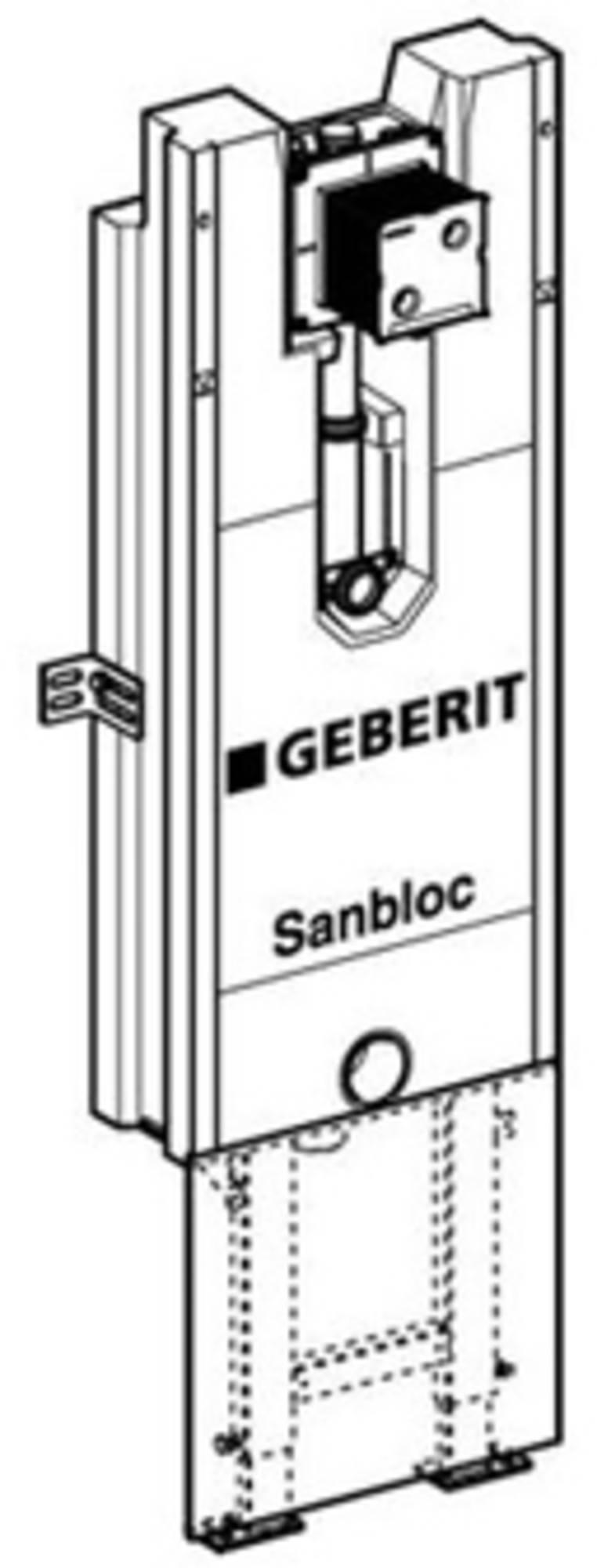Geberit Sanbloc urinoir element h122 hoh aan-afvoer 425-520