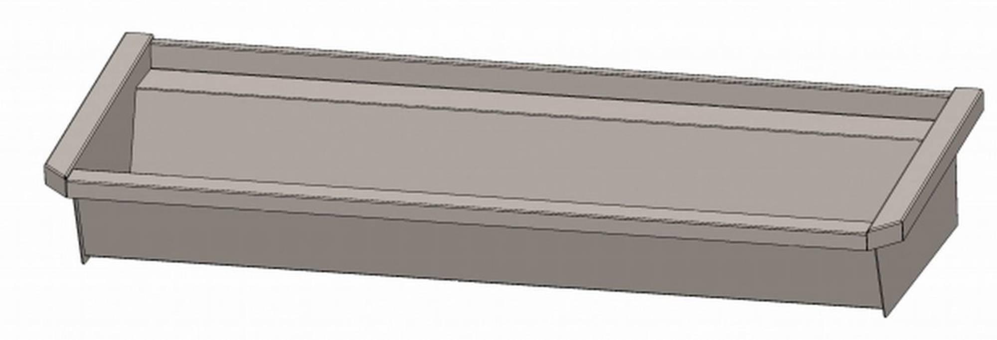 INTERSAN SANILAV wasgoot 120 cm. zonder leidingen zonder kranen INOX 304 (502Z1)