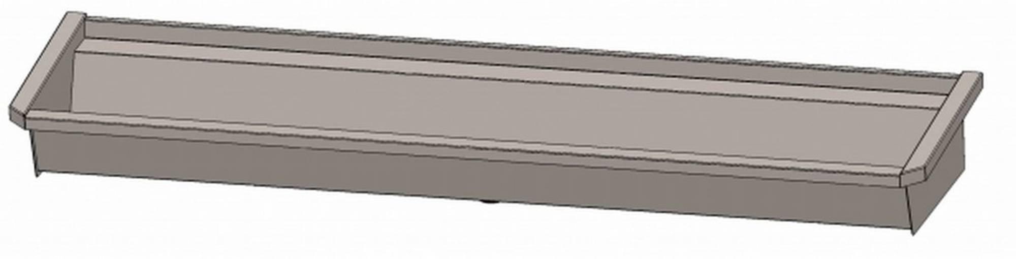 INTERSAN SANILAV wasgoot 180 cm. zonder leidingen zonder kranen INOX 304 (503Z1)