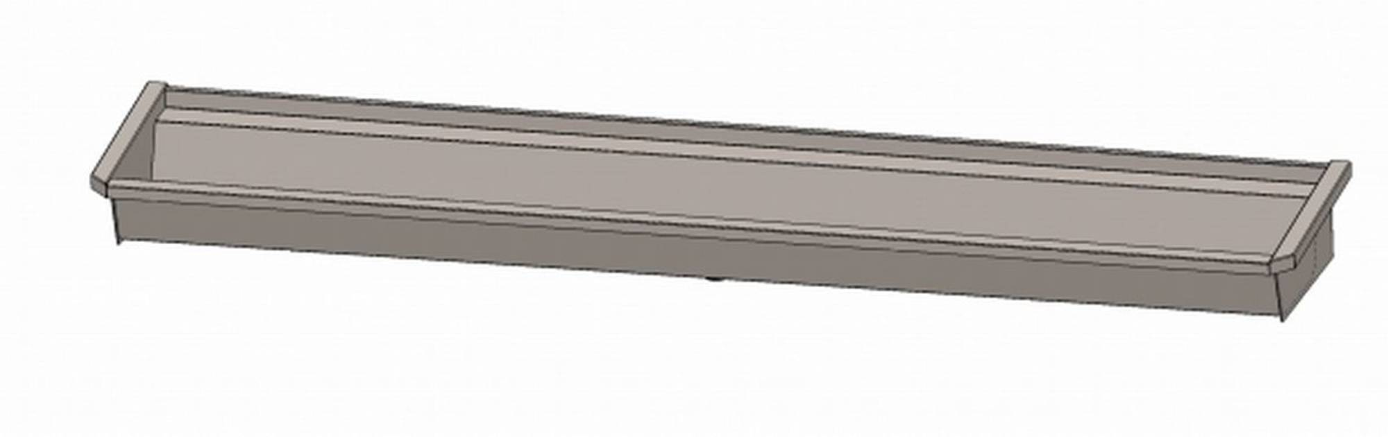 INTERSAN SANILAV wasgoot 240cm.4 pers.zonder leiding zonder kranen INOX 304 (504Z1)