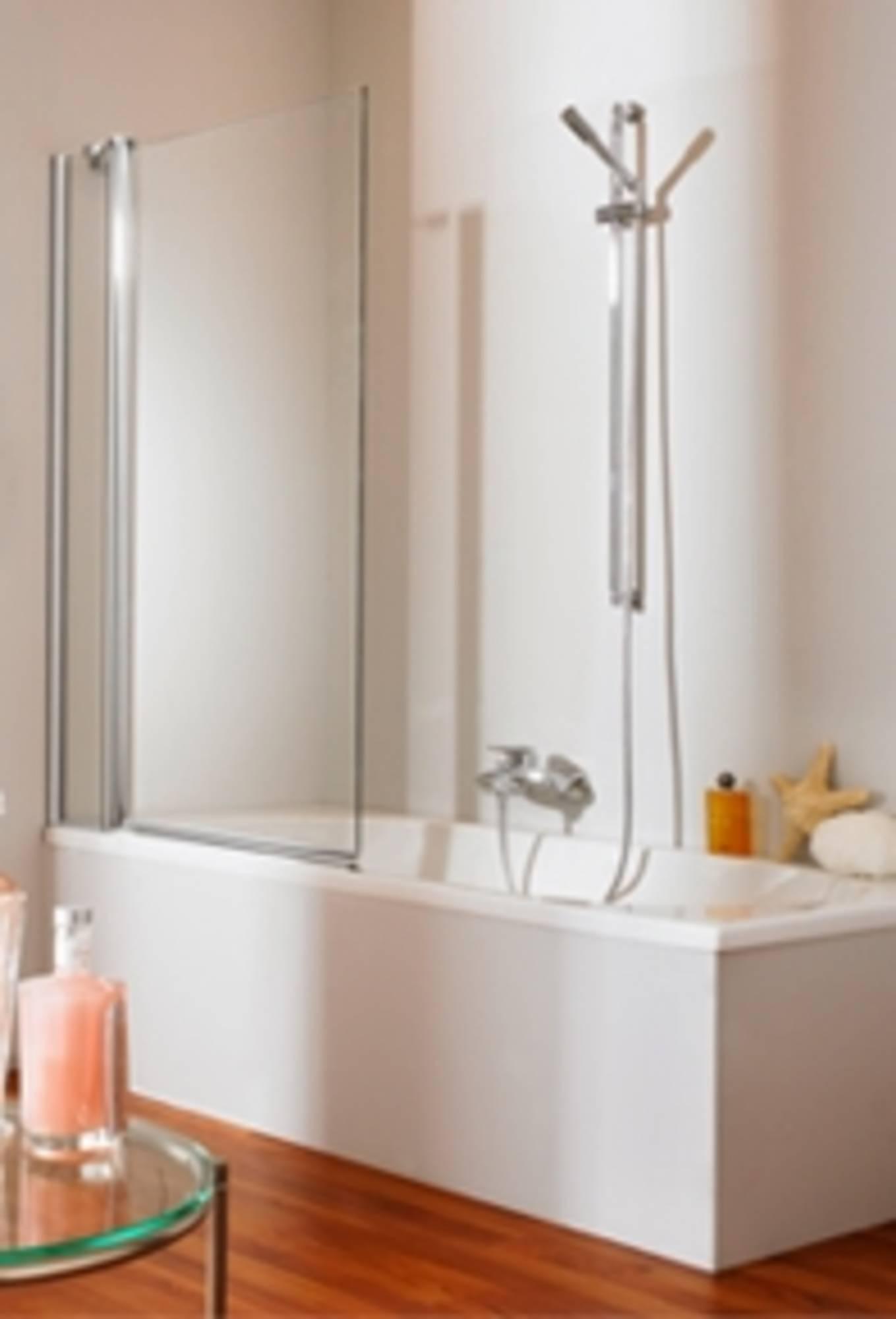 Huppe 501 Design 2-dlgbadklapwand 95x150 cm l+r toepasbaar Matzilver-Helder Glas