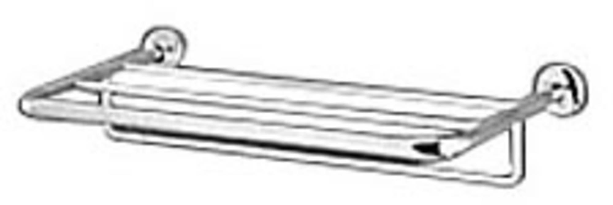 Geesa Serie 5000 handoekplateau 60x25 cm, met handdoekhouder, chroom