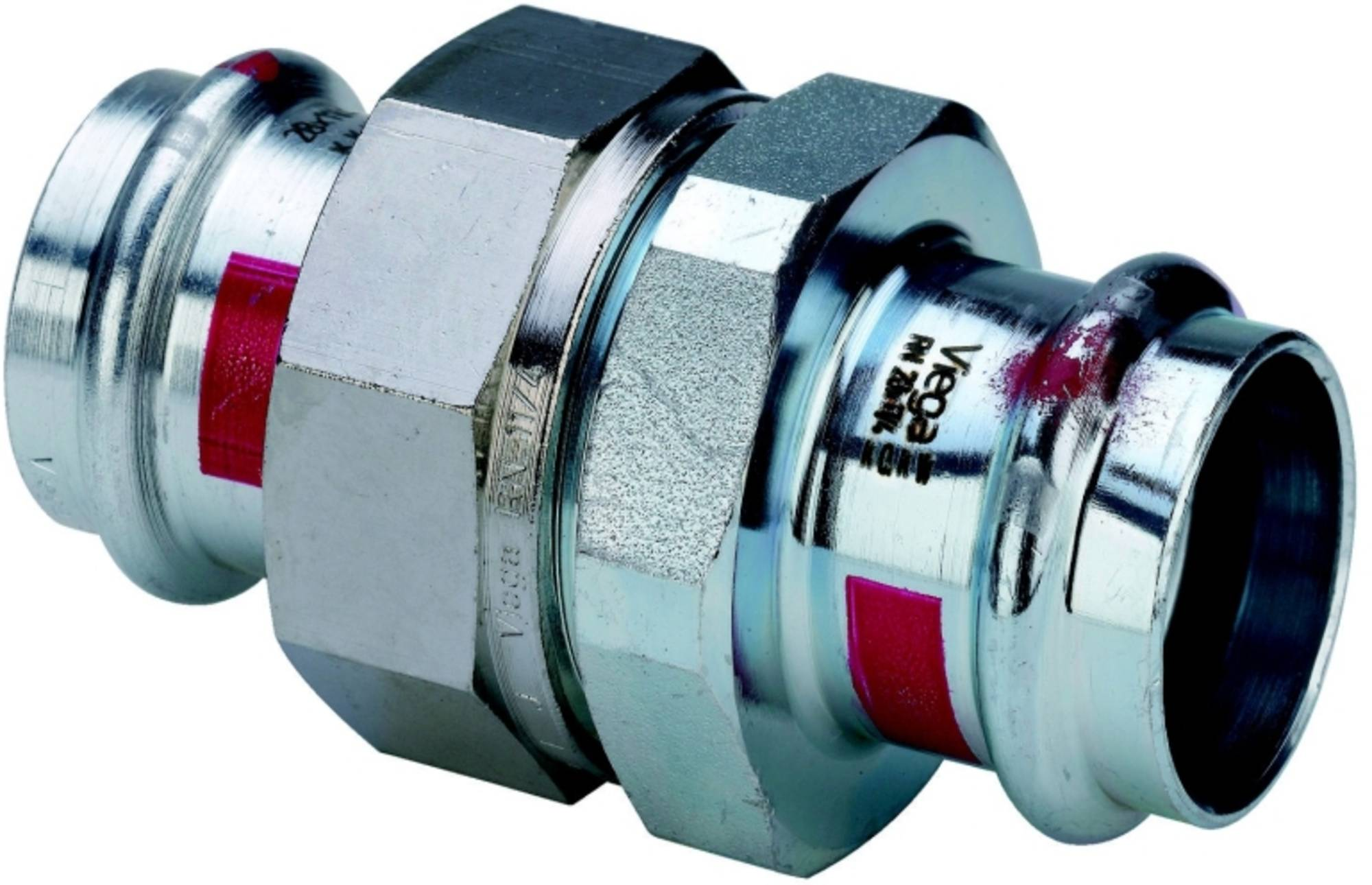 Viega Prestabo 3-delige rechte koppeling 1160 35 mm. verzinkt