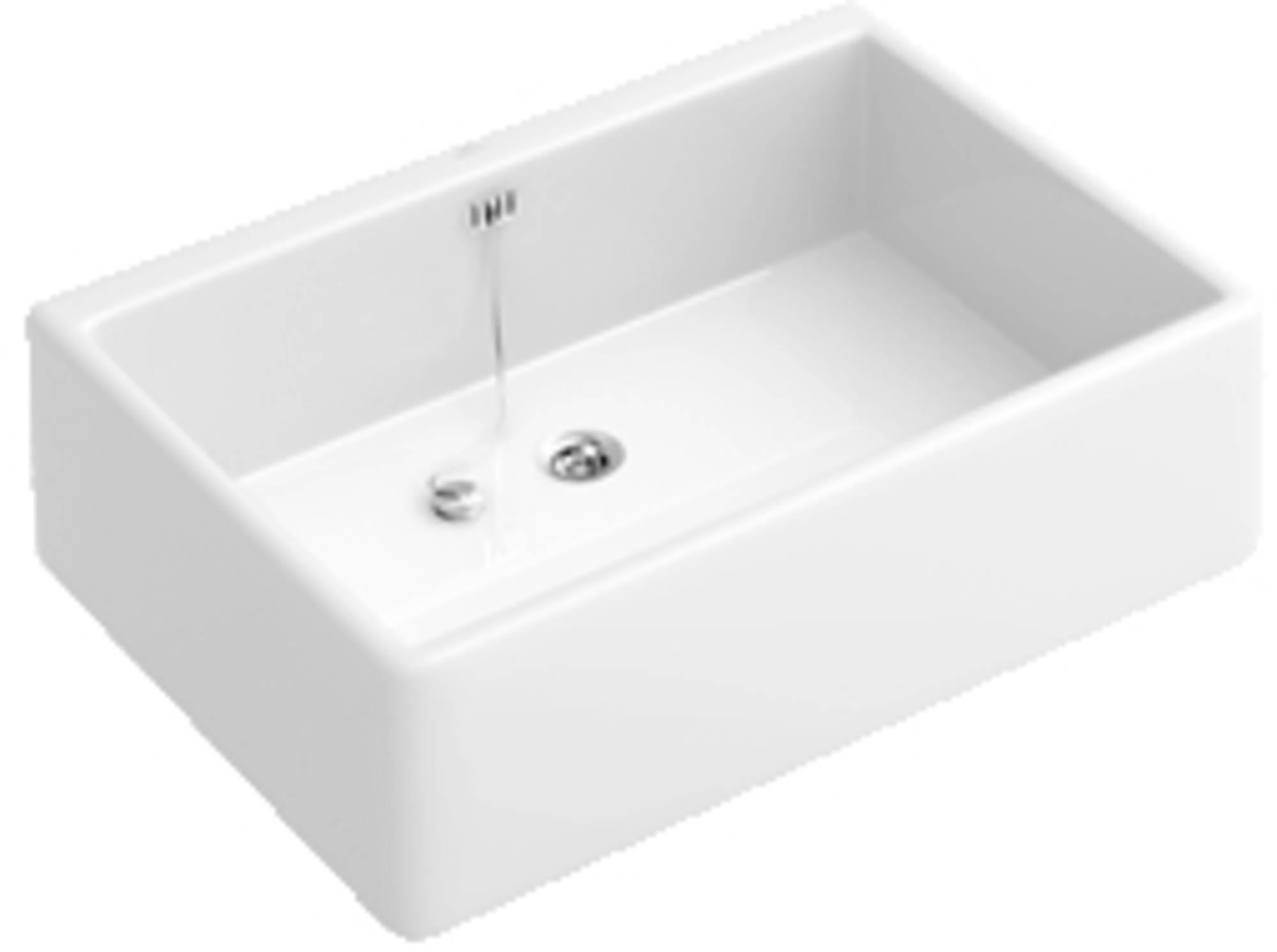 VILLEROY & BOCH O.NOVO-OMNIA PRO spoelbak 50x40 cm. ceramicplus WIT (632100R1)