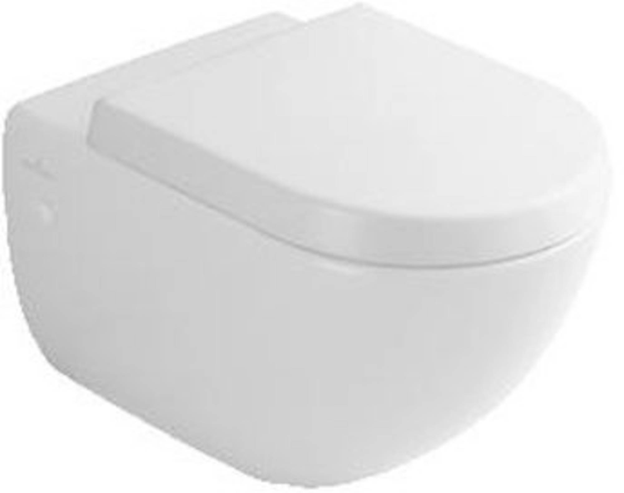 Villeroy & boch Subway 2.0 closetzitting quickrelease met rvs scharnieren, wit