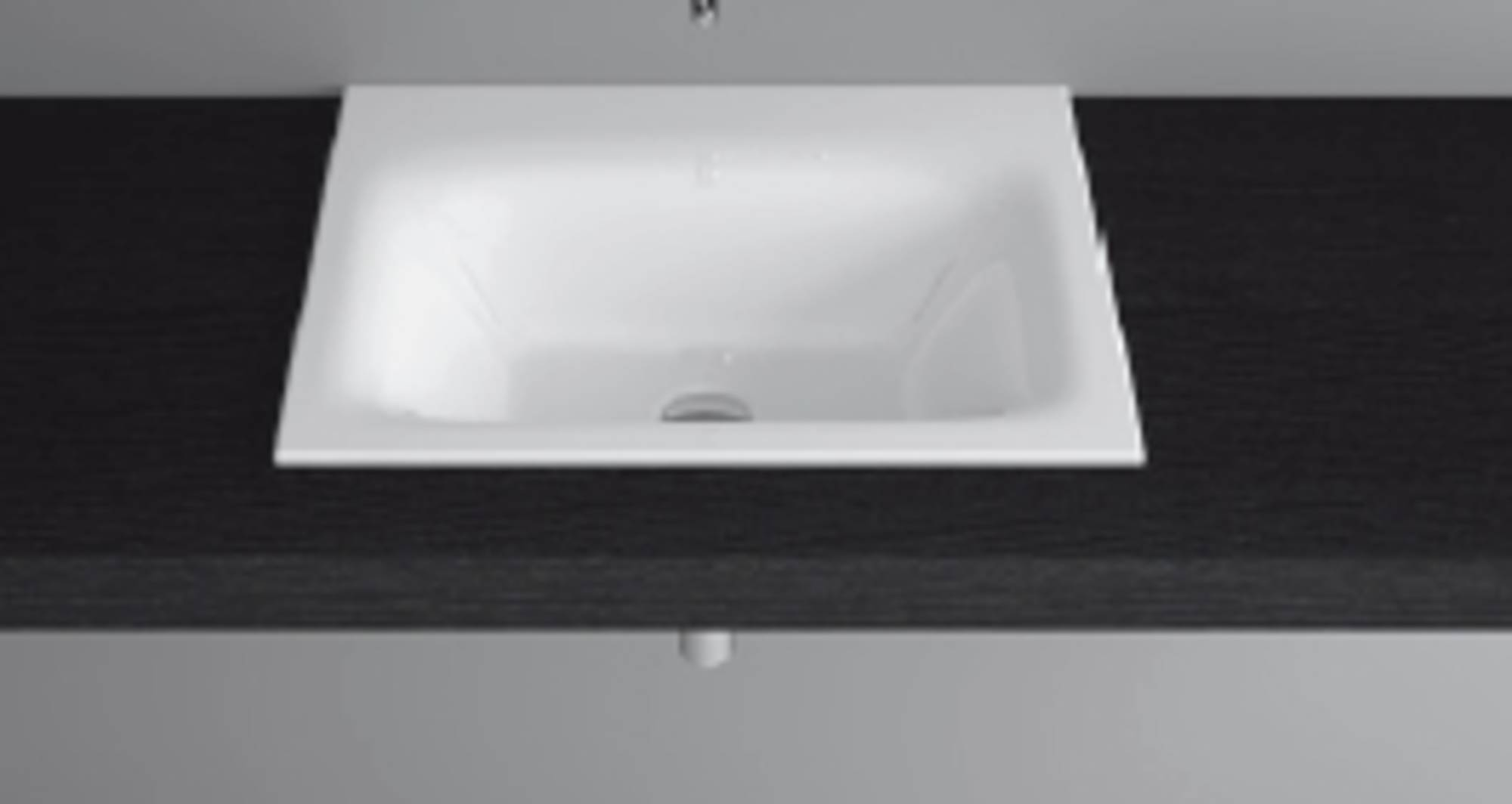 Bette Lux inbouw wastafel 60x475x1 cm zonder kraangat Wit