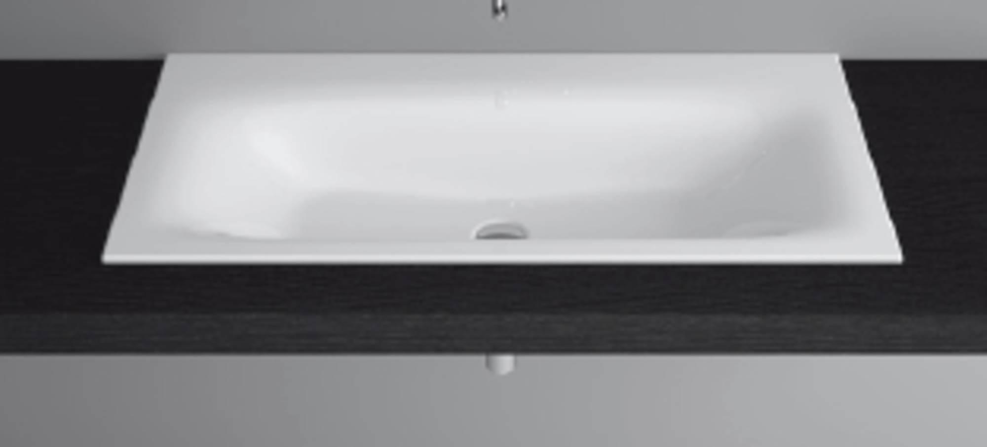 Bette Lux inbouw wastafel 100x475x1 cm zonder kraangat Wit