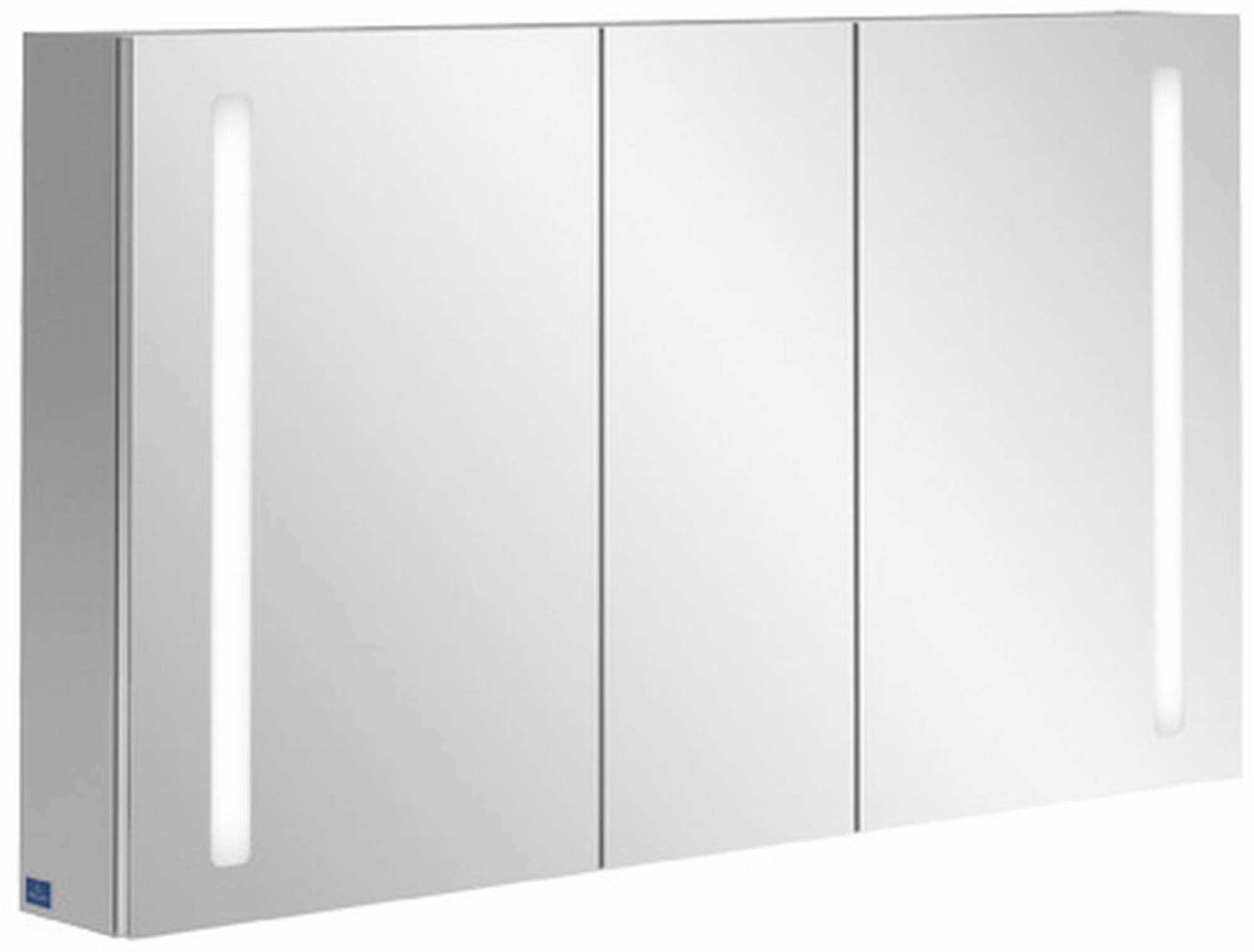 Villeroy & boch My view 14 spiegelkast 130x75 cm, 3 deuren en led verlichting