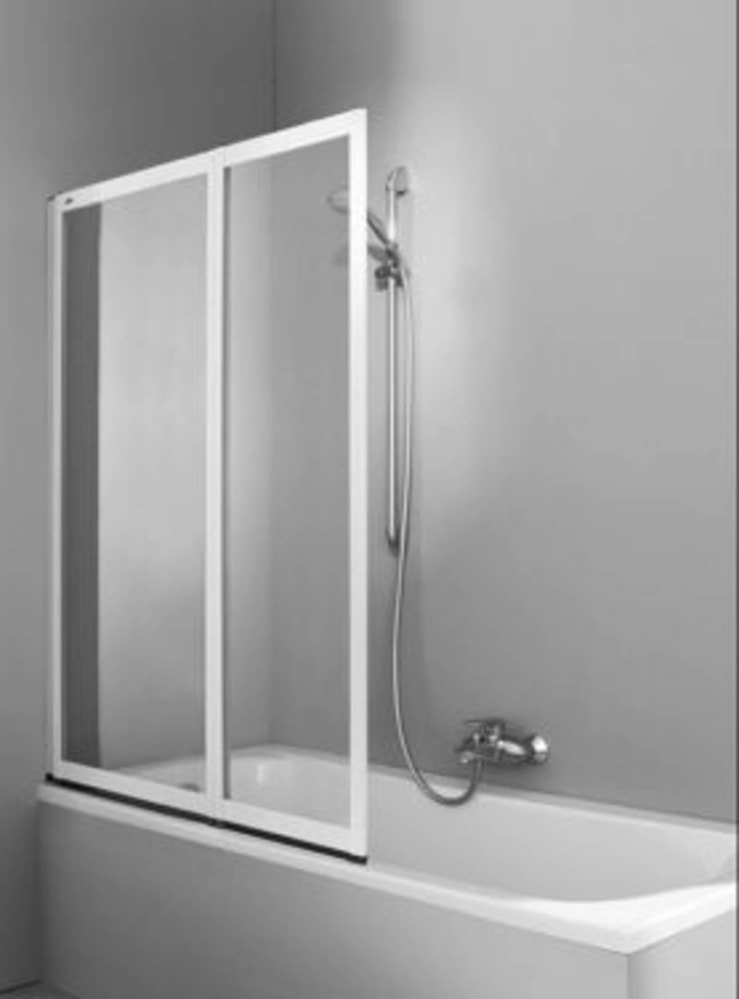 Huppe Combinett 2-delige badklapwand 100x140 cm Matzilver-Helder Glas