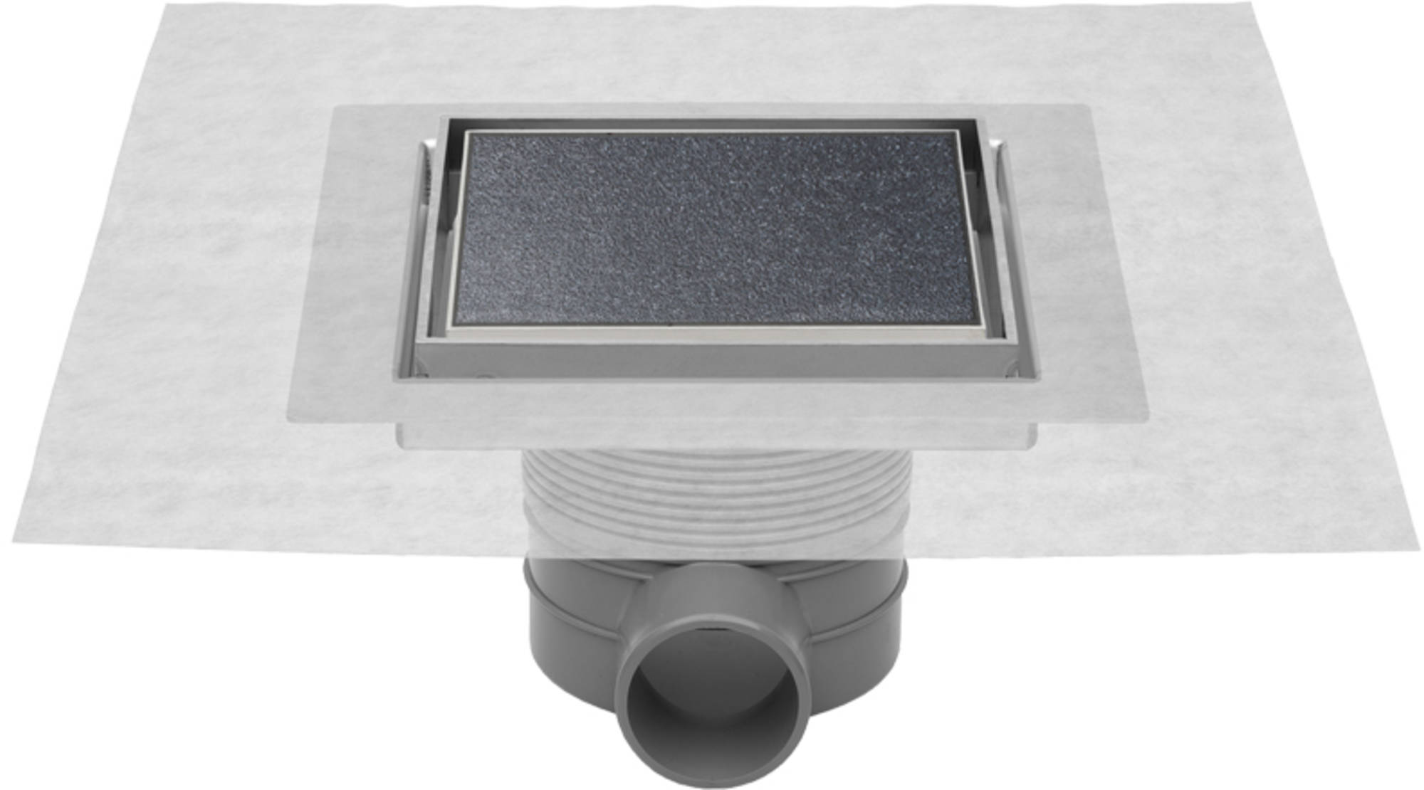 Easydrain Aqua jewels quattro vloerput rvs 10x10 cm, zu multi, tegel-rvs