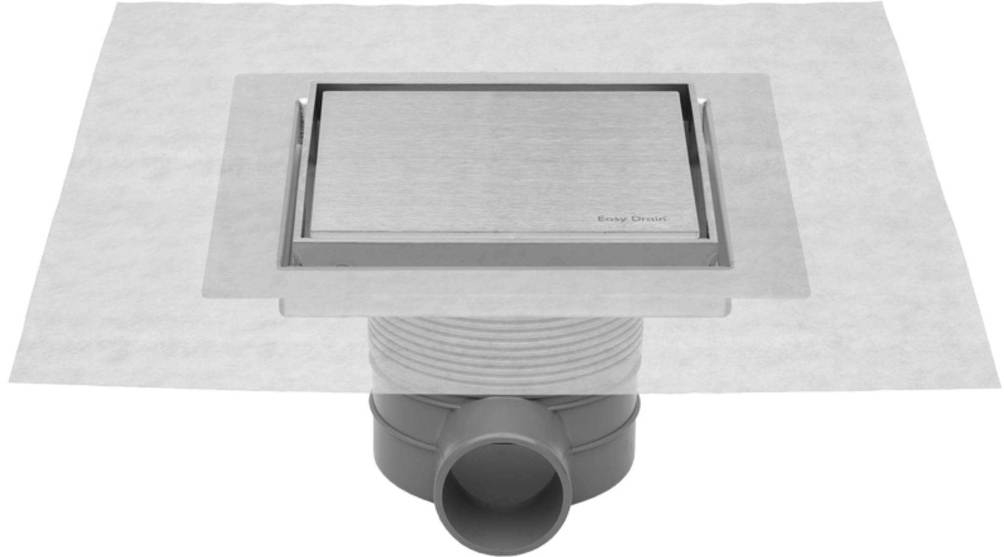 Easydrain Aqua jewels quattro vloerput rvs 10x10 cm, zu multi, rvs geborsteld