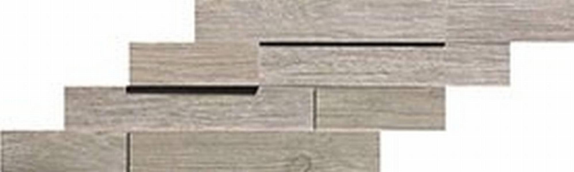 ATLAS CONCORDE AXI tegelmat brick 3d 20 x 44 cm. doos a 4 stuks SILVER FIR (AMWC)
