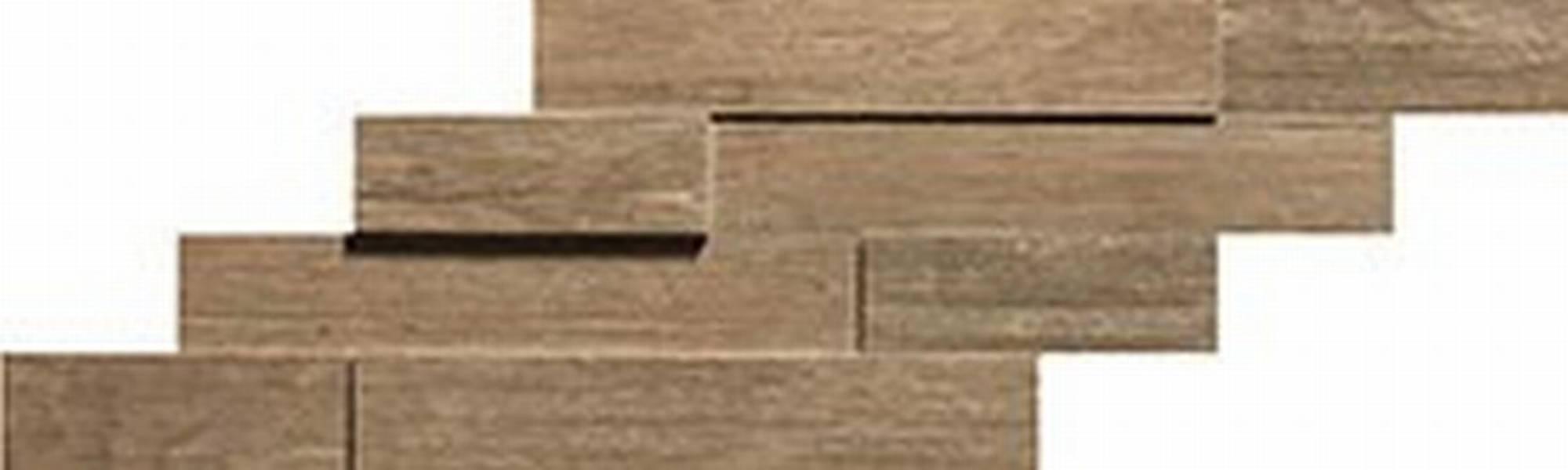 ATLAS CONCORDE AXI tegelmat brick 3d 20 x 44 cm. doos a 4 stuks BROWN CHESTNUT (AMWE)