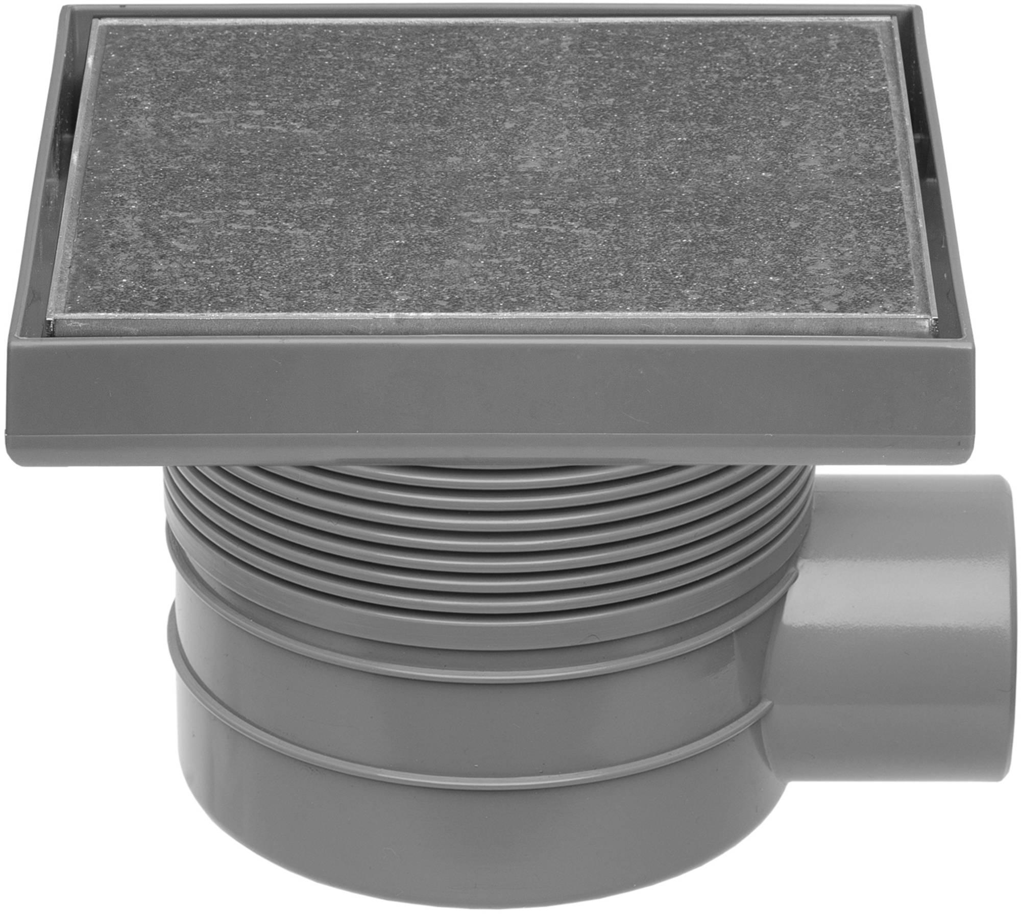 Easydrain Aqua quattro tegel vloerput abs 15x15 cm, horizontaal, tegel-rvs