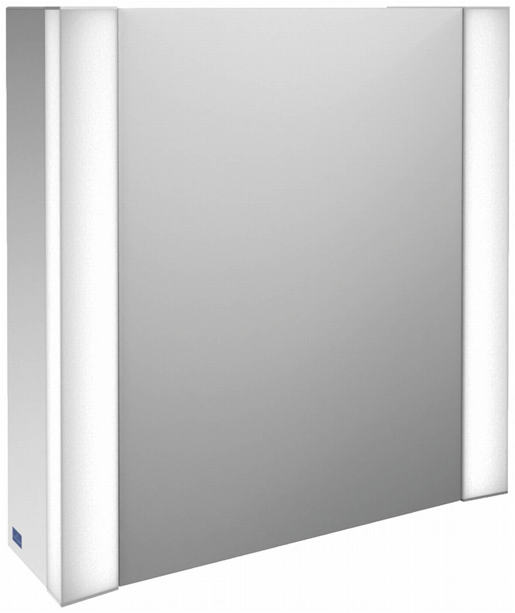 Villeroy&Boch My View spiegelkast 60 deur li m/led m/vergrootspiegel Glossy Wit