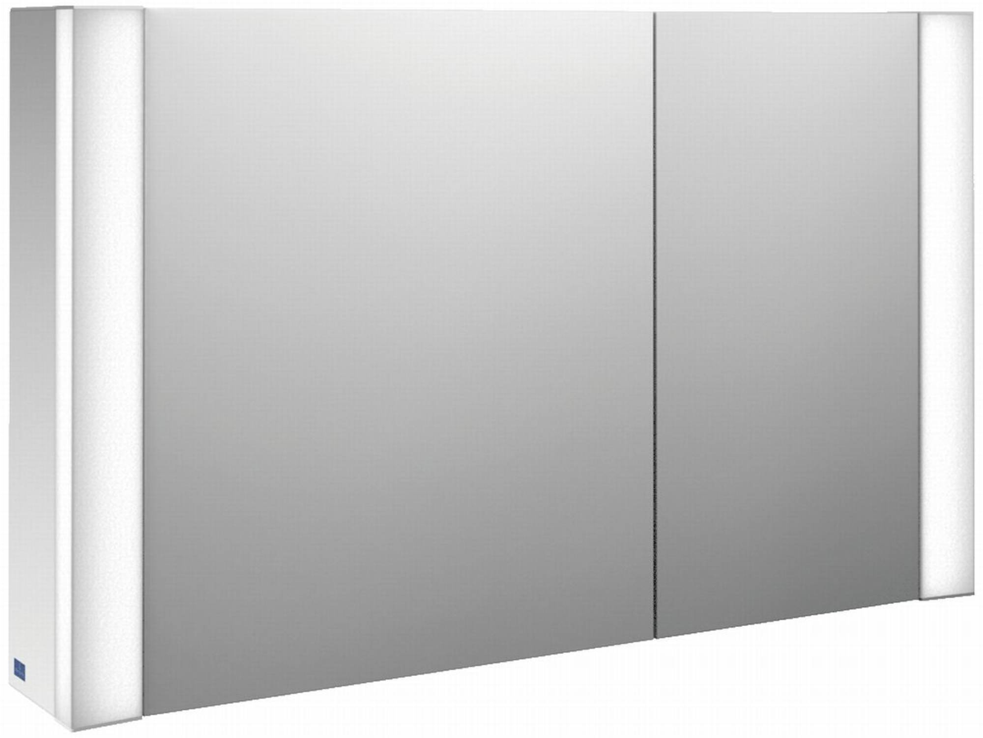 Villeroy&Boch My View spiegelkast 100 cm 2xdeur m/led m/vergrootspiegel Glossy Wit