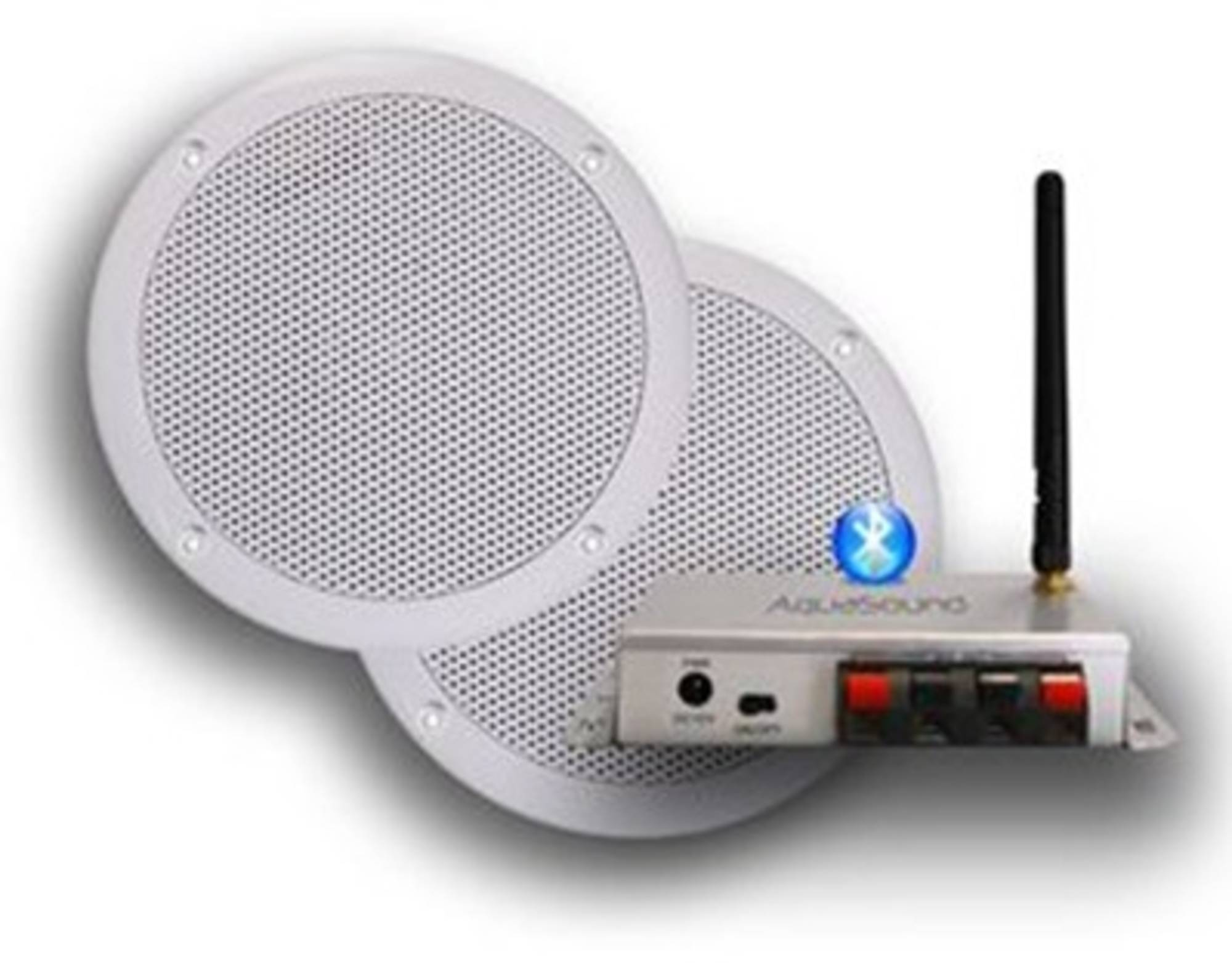 AquaSound bluetooth music center 50w met bolero speakerset wit Wit