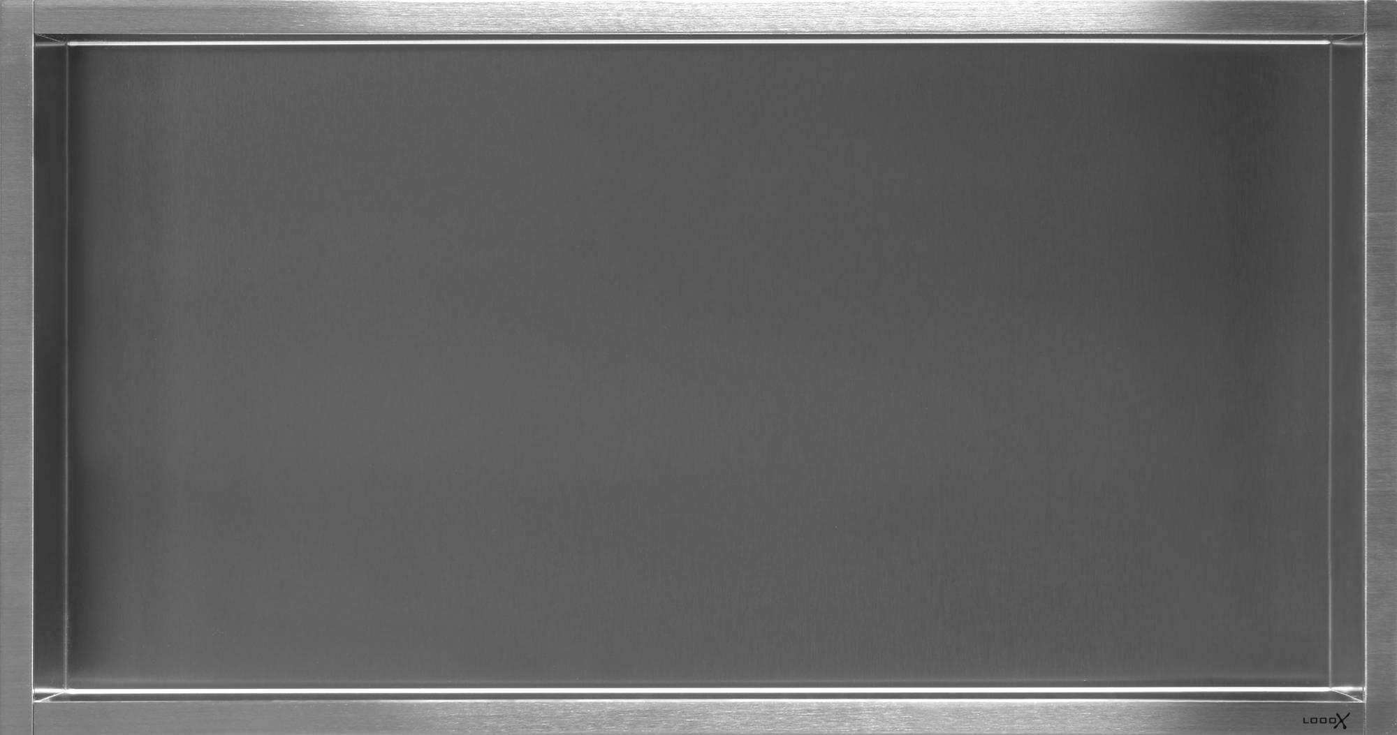 LOOOX inbouwnis badkamer rechthoek Special, RVS. geborsteld