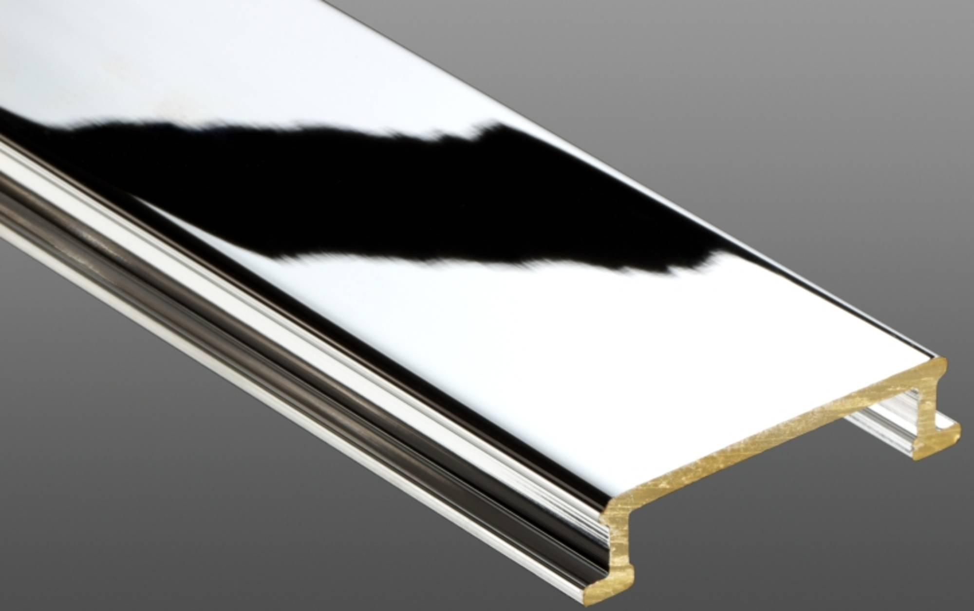 SCHLUTER DESIGNLINE sierstrip mc 6 mm. messing verchroomd CHROOM (DL625MC)